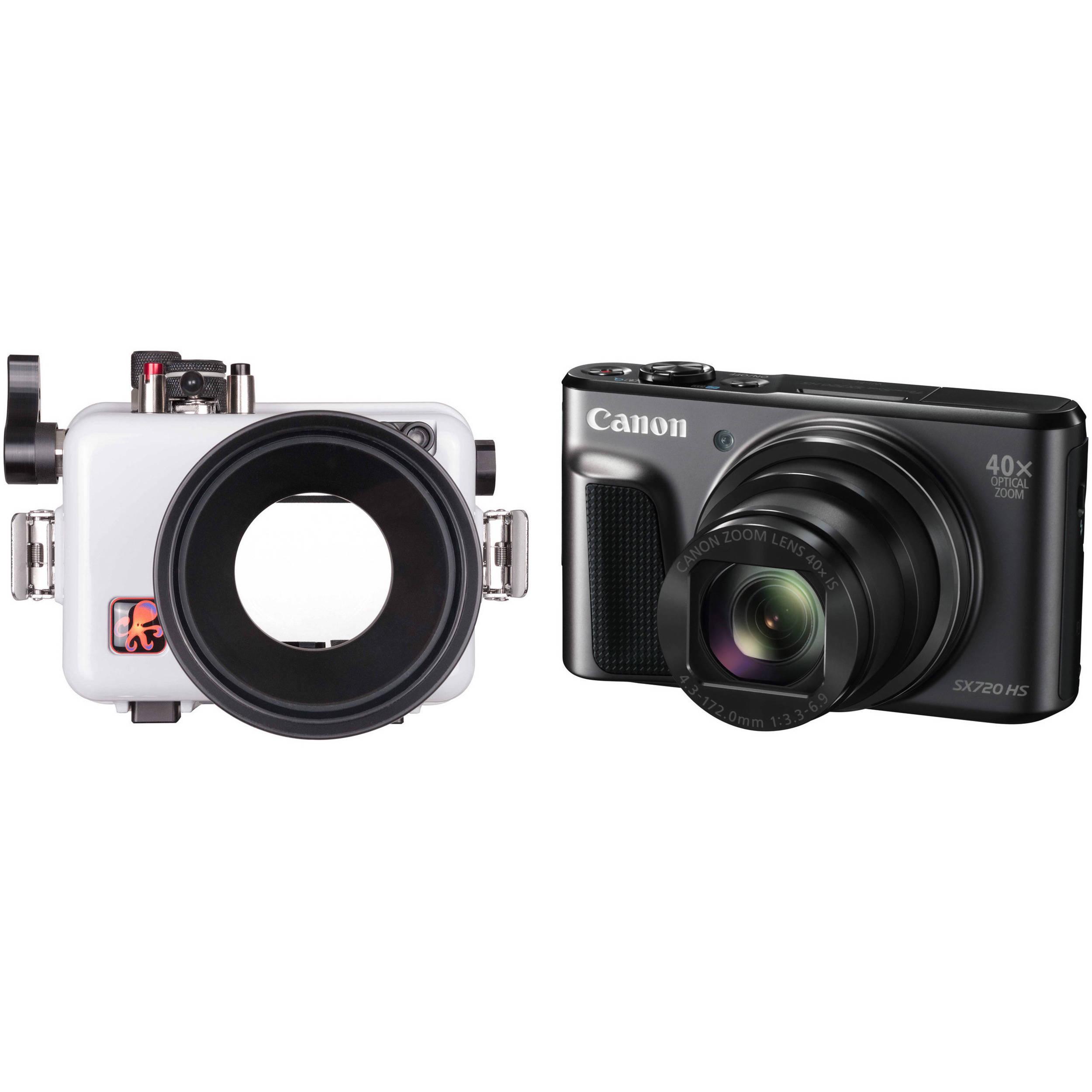 Ikelite Underwater Housing And Canon Powershot Sx720 Digital Bh Hs Camera Kit