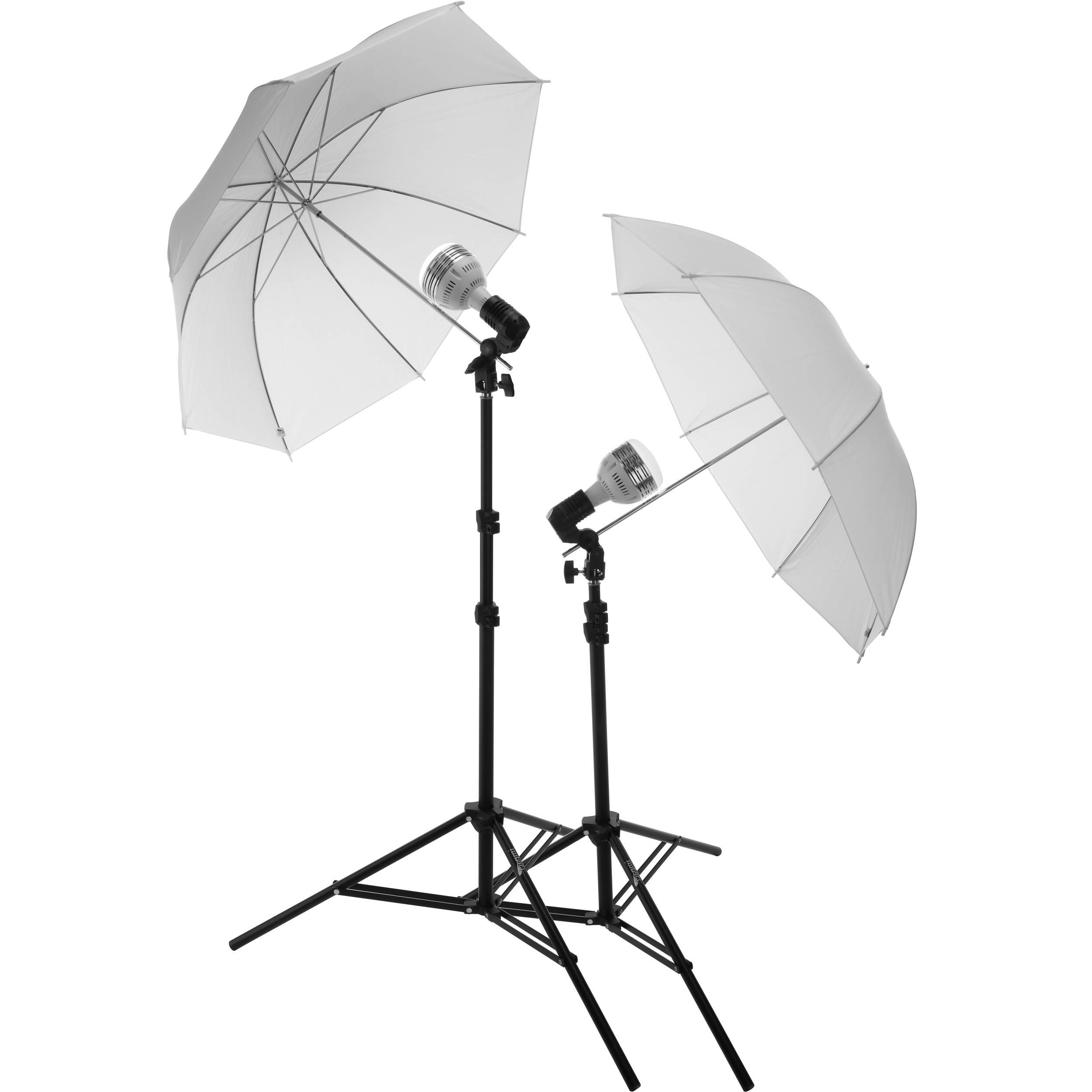 Impact Portrait Light Kit With 6 Stand Led Fluorescent Single Lamp Holder E27