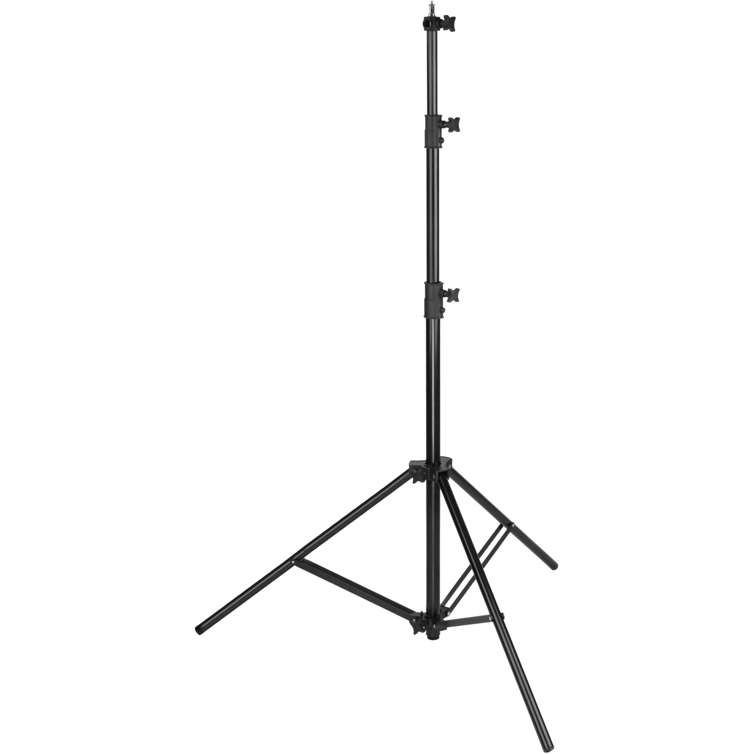 Black, 8 Impact Air-Cushioned Light Stand