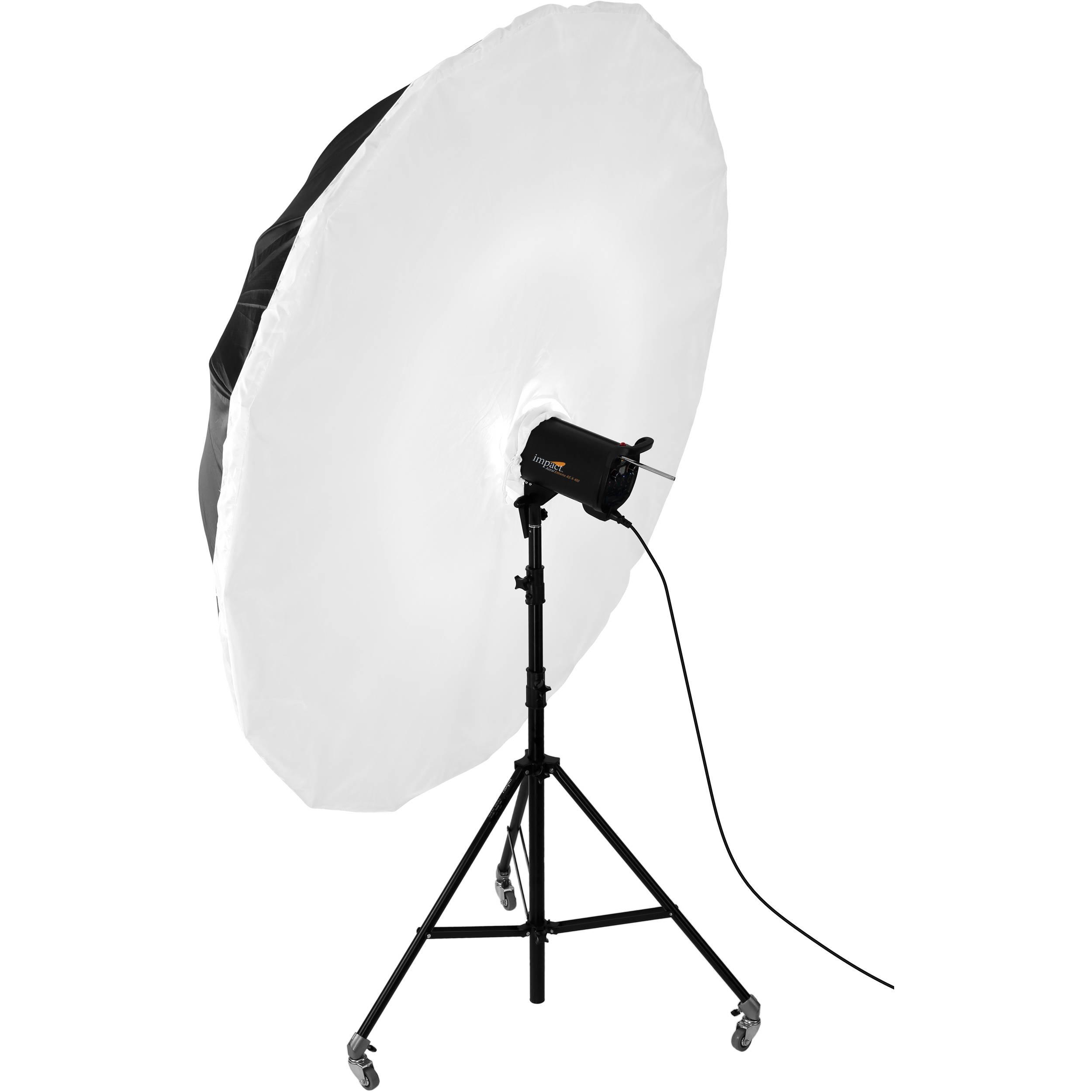 Studio Lighting Diffuser: Impact 7' Parabolic Umbrella Diffuser UP-7D B&H Photo Video