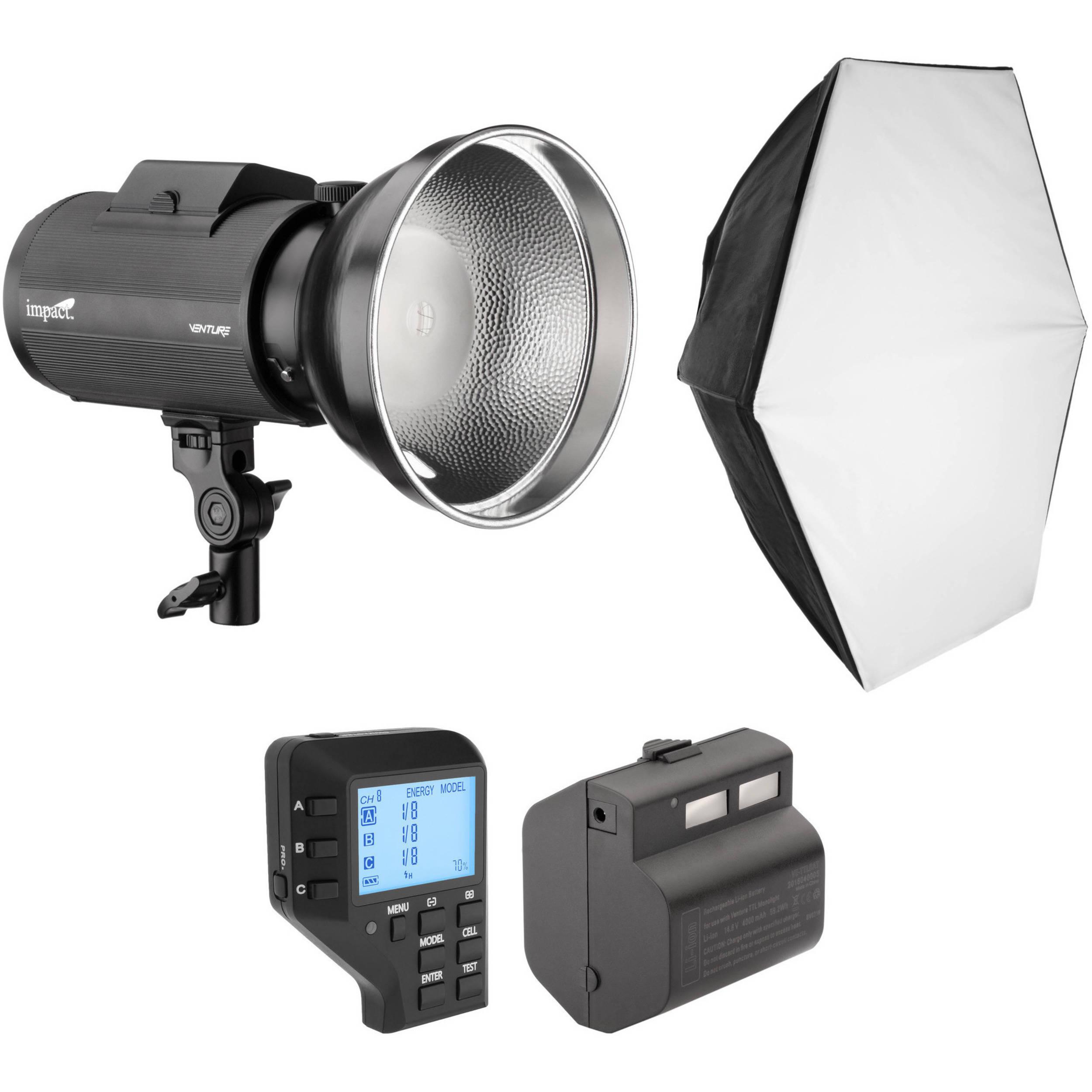 Impact Venture TTL-600 Battery-Powered Monolight Kit with Nikon Controller  sc 1 st  Bu0026H & Monolight Lighting Kits | Bu0026H Photo Video azcodes.com