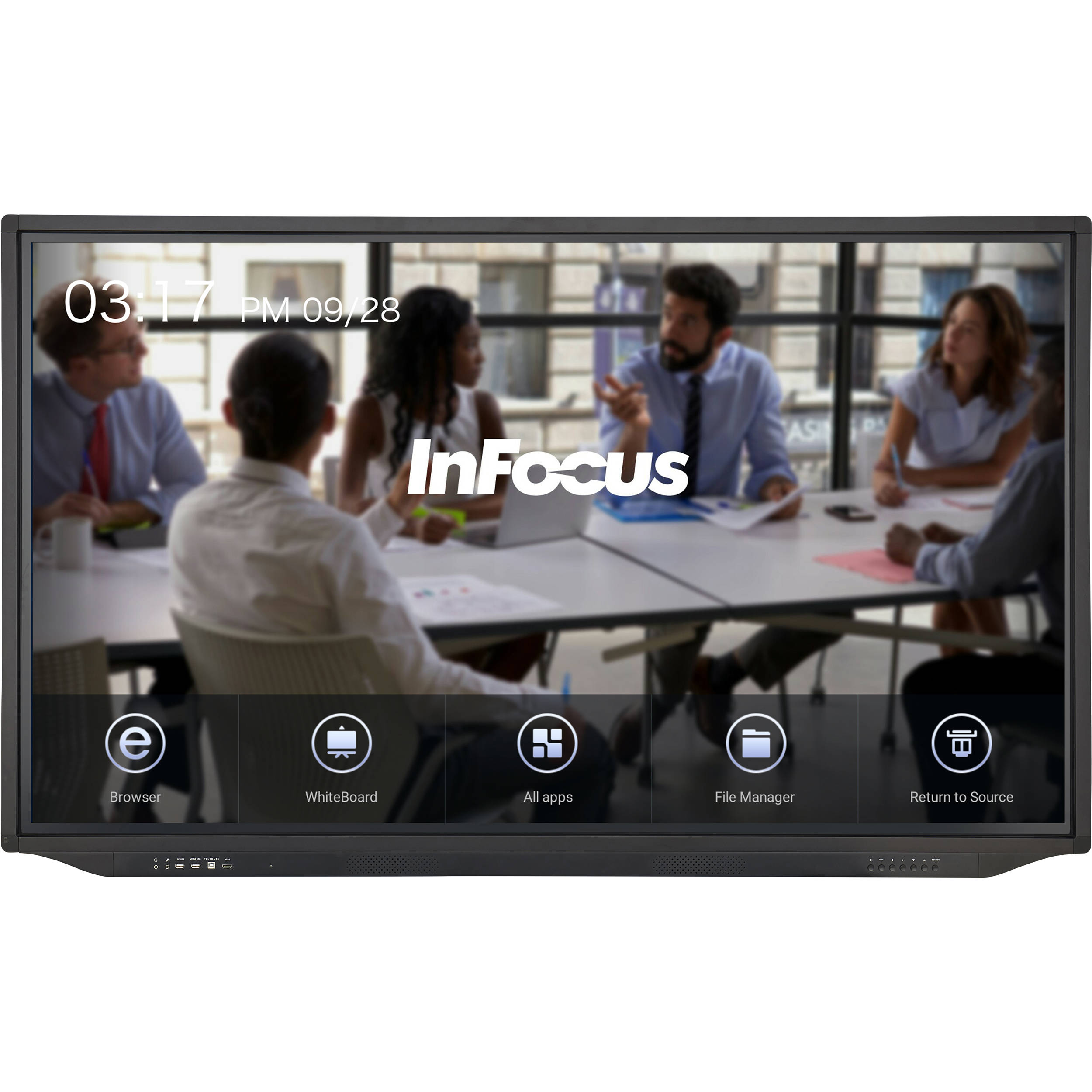 Infocus Jtouch Plus 65 Inch 4k Anti Glare Display Inf6533 Bh Guitar Humbucker Coax Wiring Diagrams With Android