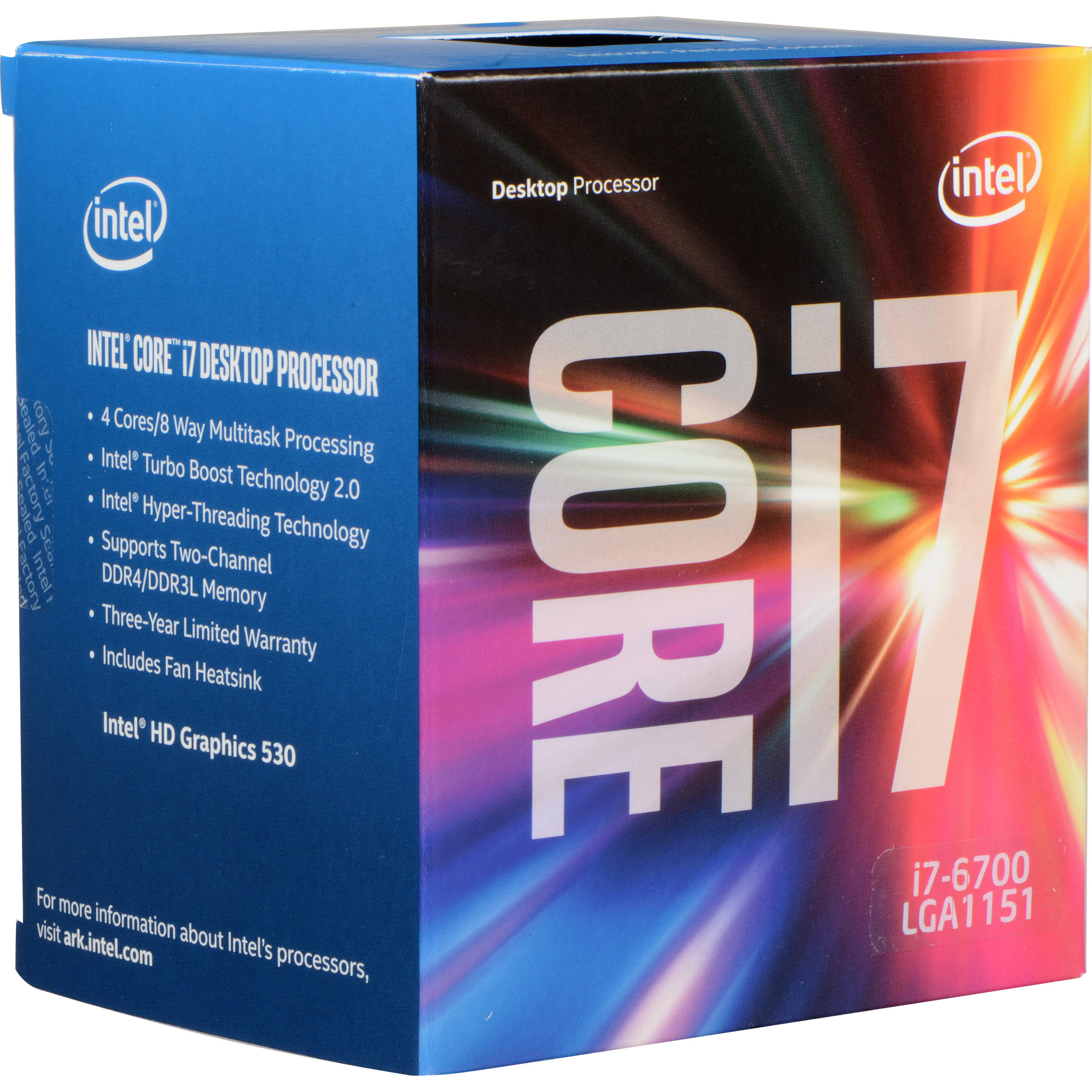 Intel Core i7-6700 3.4 GHz Quad-Core Processor ...