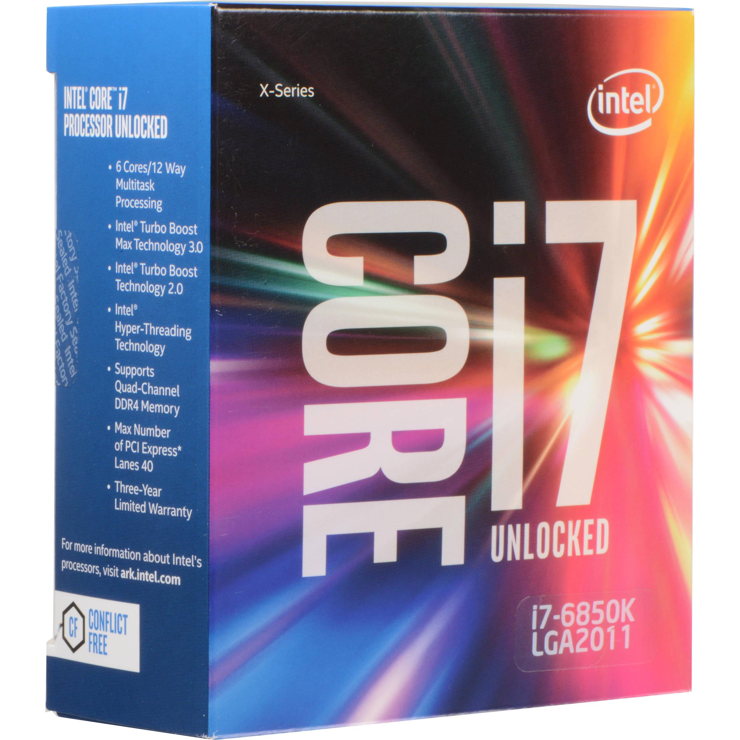 Intel Core i7-6850K 3.6 GHz Six-Core LGA 2011-v3 BX80671I76850K