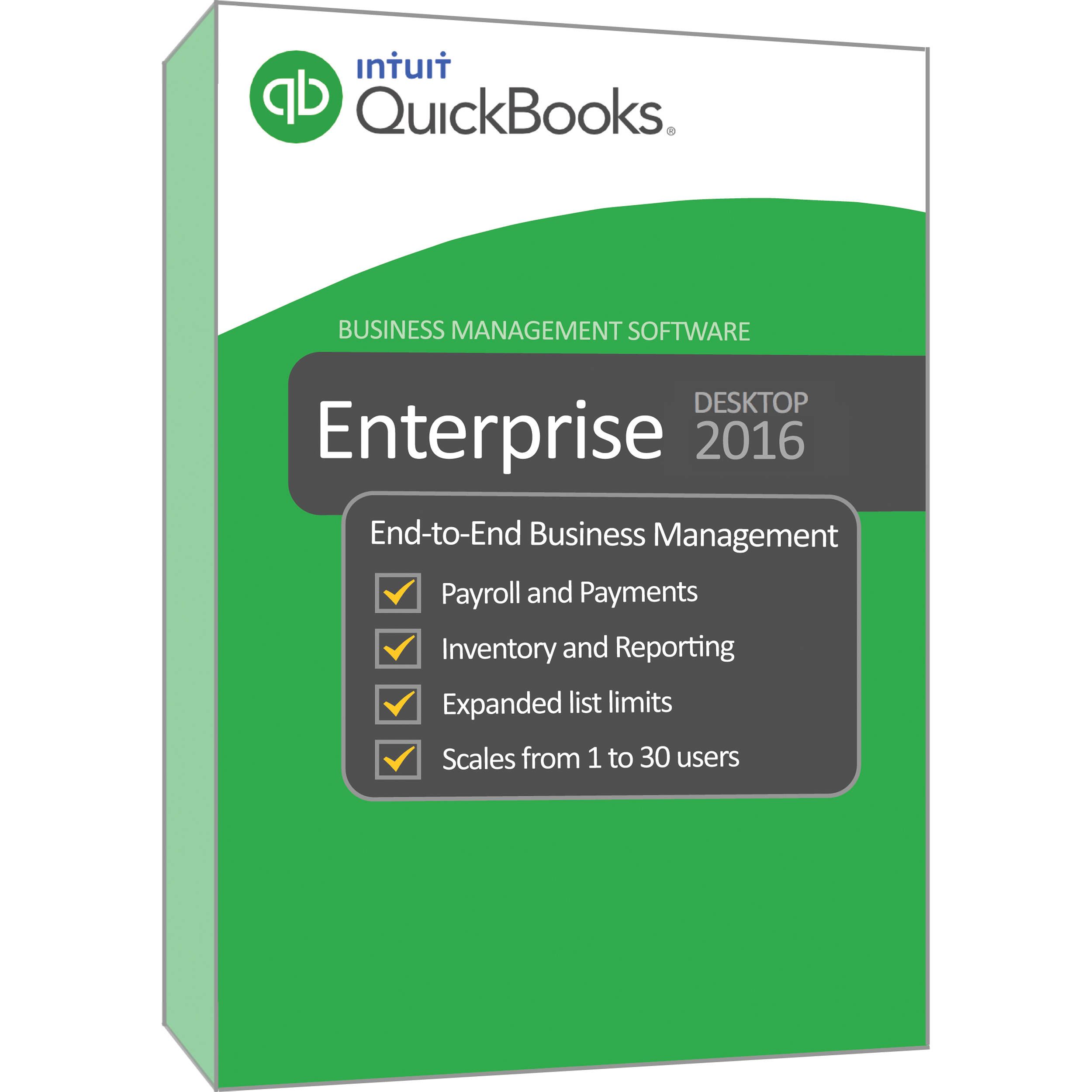 Intuit QuickBooks 2016 Enterprise Solution Platinum 427785 B&H