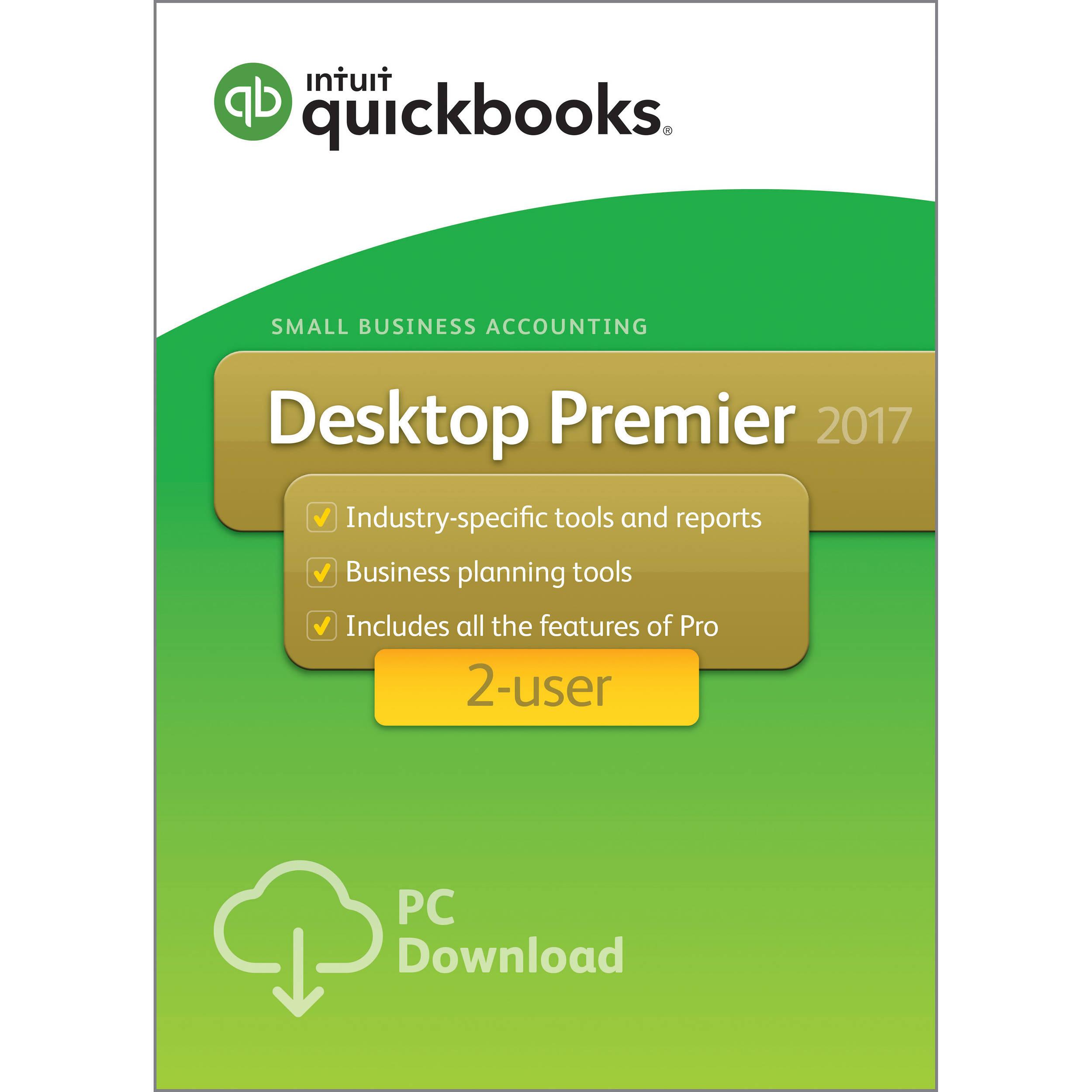 intuit quickbooks premier 2017 2 users download 428368 b h rh bhphotovideo com QuickBooks Instruction Manual QuickBooks For Dummies