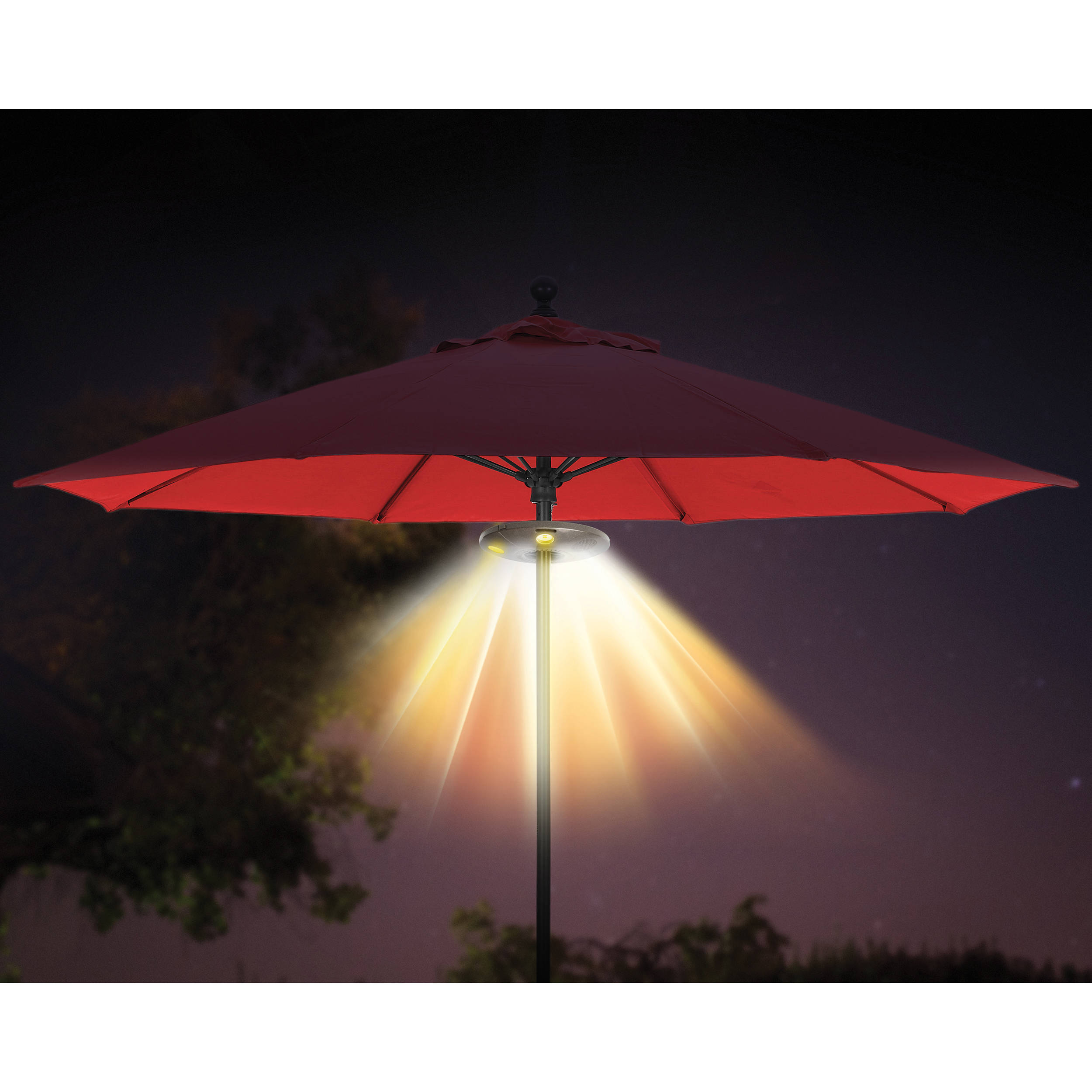 ION Audio Patio Mate Umbrella Light with Bluetooth Stereo ISP50