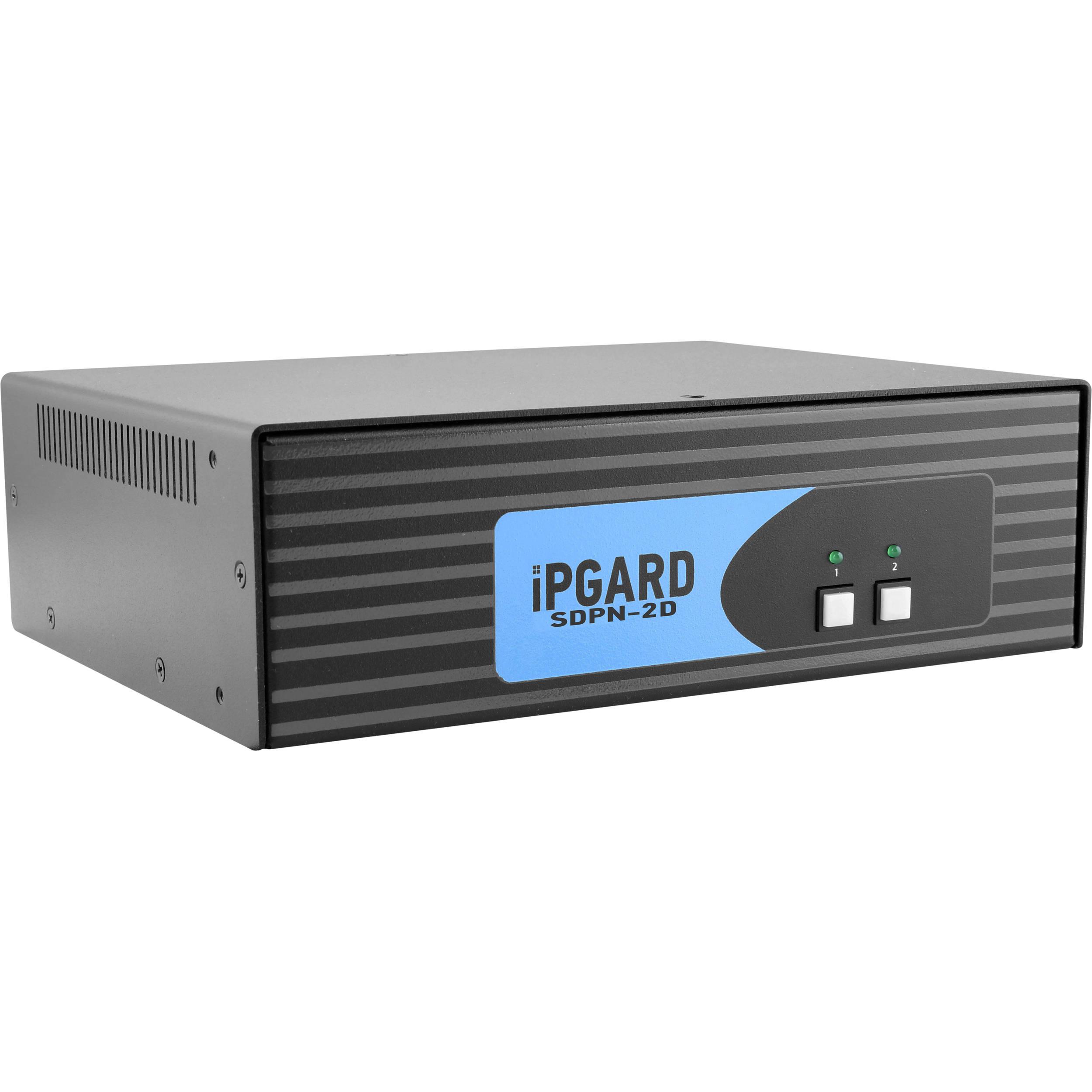 IPGard SDPN 2D 2 Port Dual Head 4K DisplayPort KVM Switch