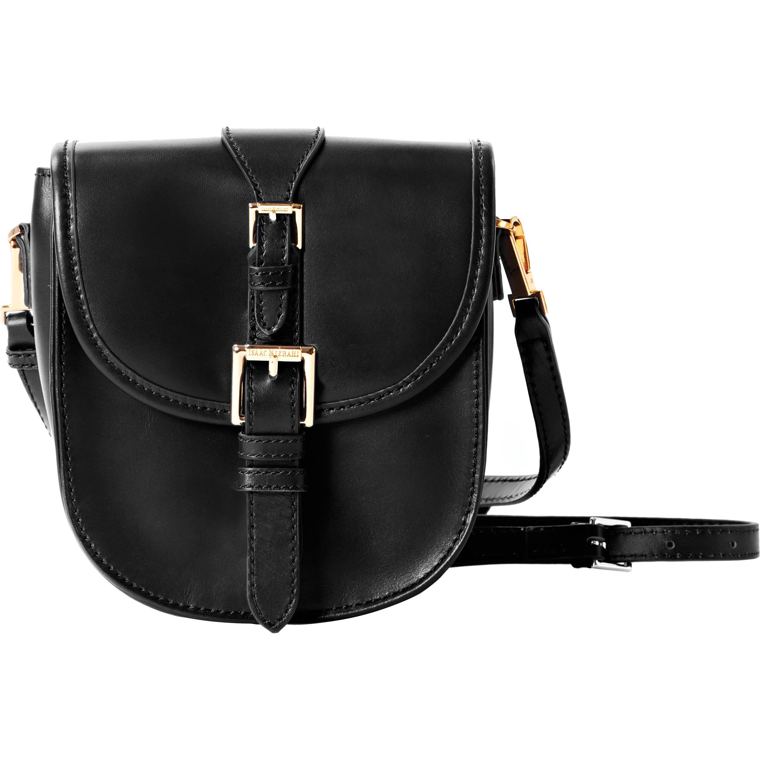 ISAAC MIZRAHI The Jane Cross-Body Camera Bag (Black) IM22902-BK 7ac733b15eaa3