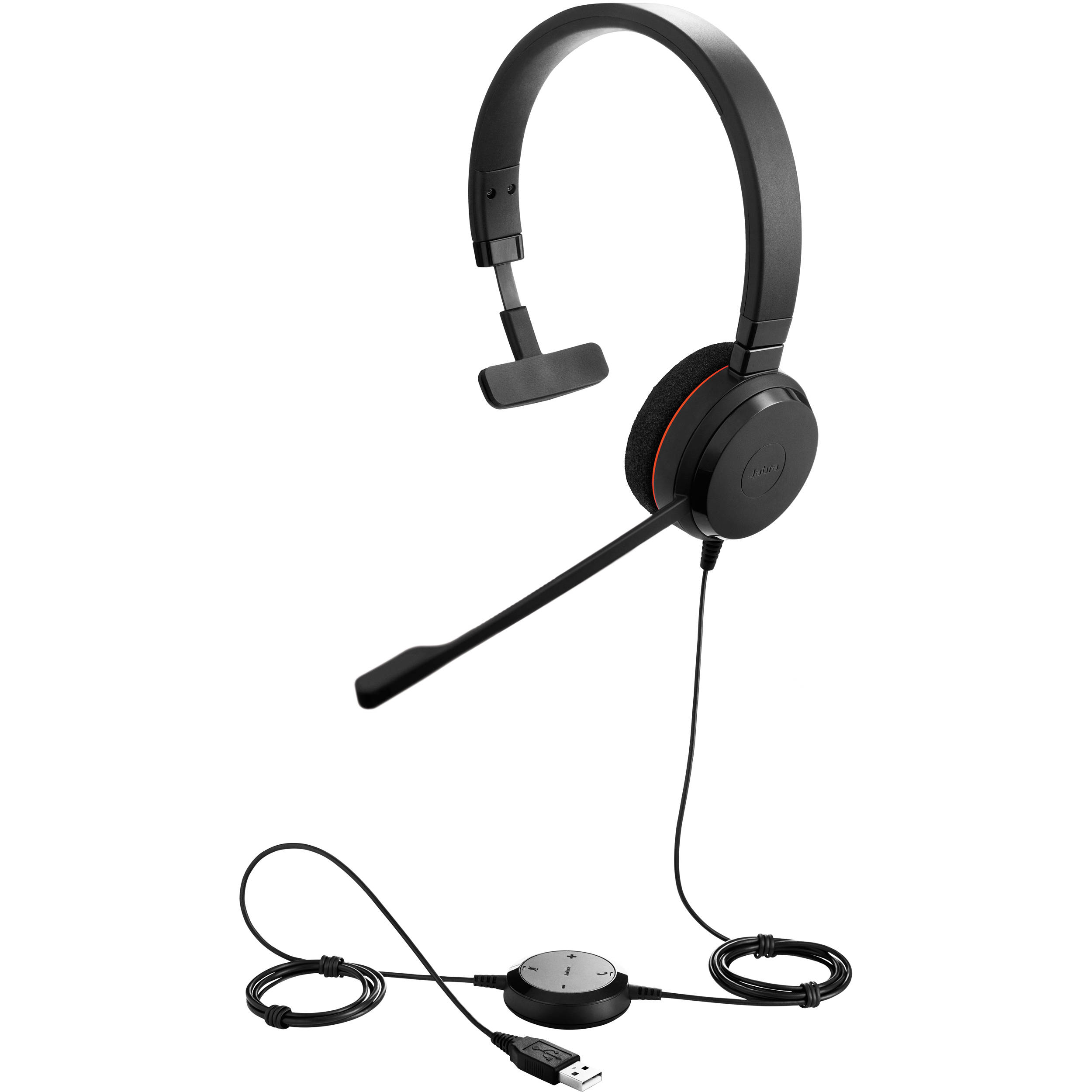 Jabra EVOLVE 20 Microsoft Lync Mono Headset 4993-823-109 B\u0026H