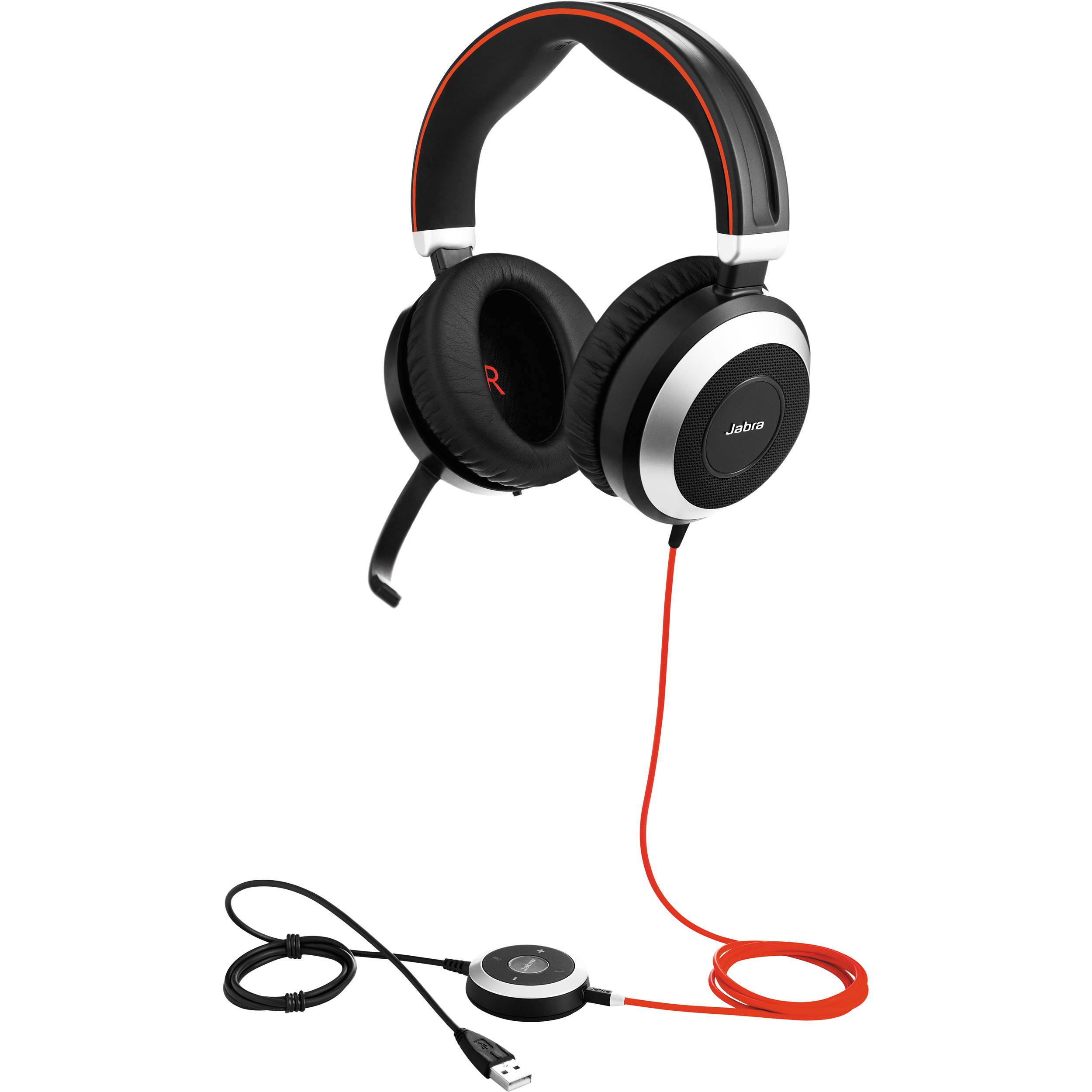 Jabra Evolve 75 Ms Stereo: Jabra EVOLVE 80 MS Stereo Headset 7899-823-109 B&H Photo Video