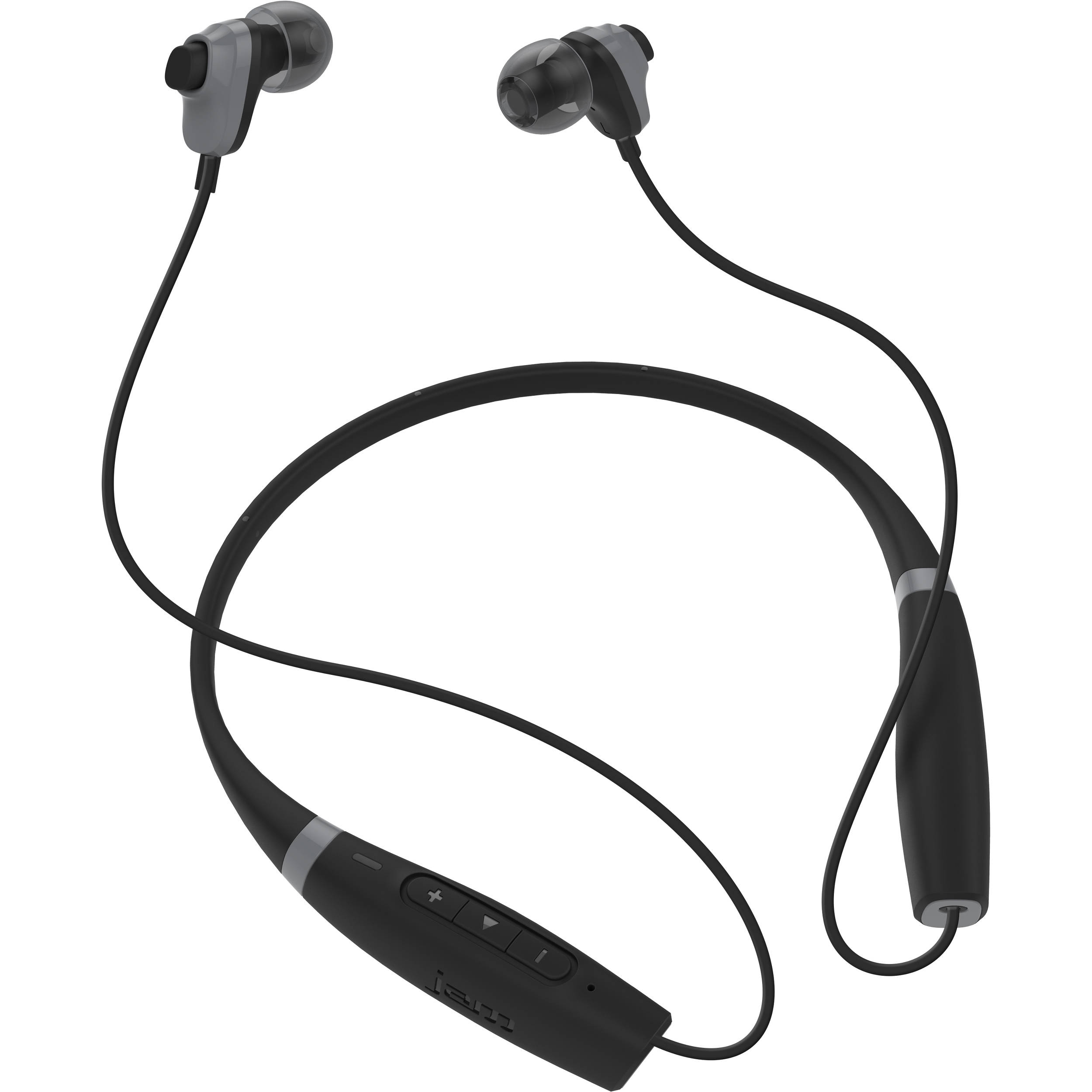 jam comfort buds collared bluetooth earbuds hx ep700bk b h photo. Black Bedroom Furniture Sets. Home Design Ideas