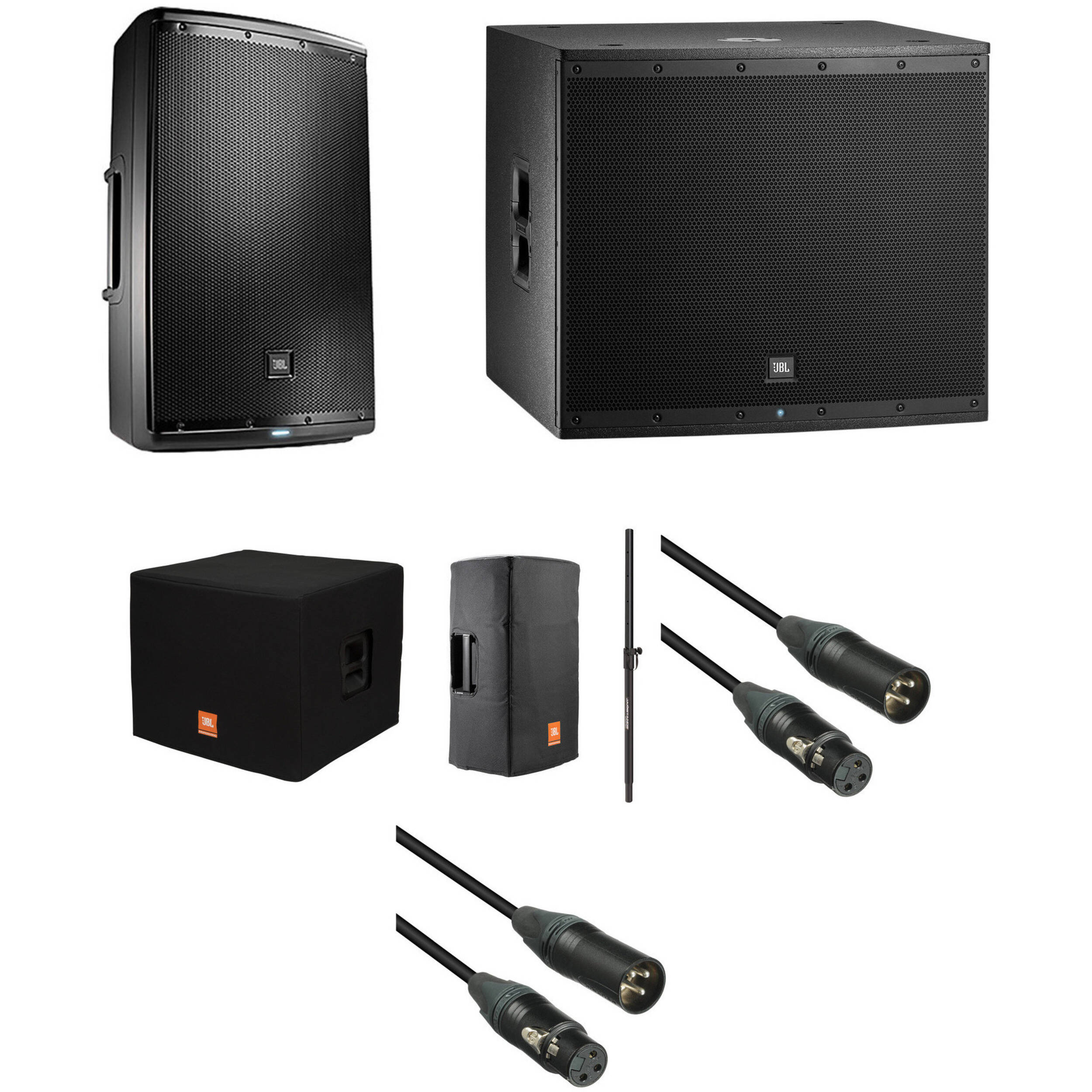 Jbl Eon Powered Speaker And Subwoofer Kit With Covers Way Crossover Work Also Speakers 3 Diagrams Pole Cables