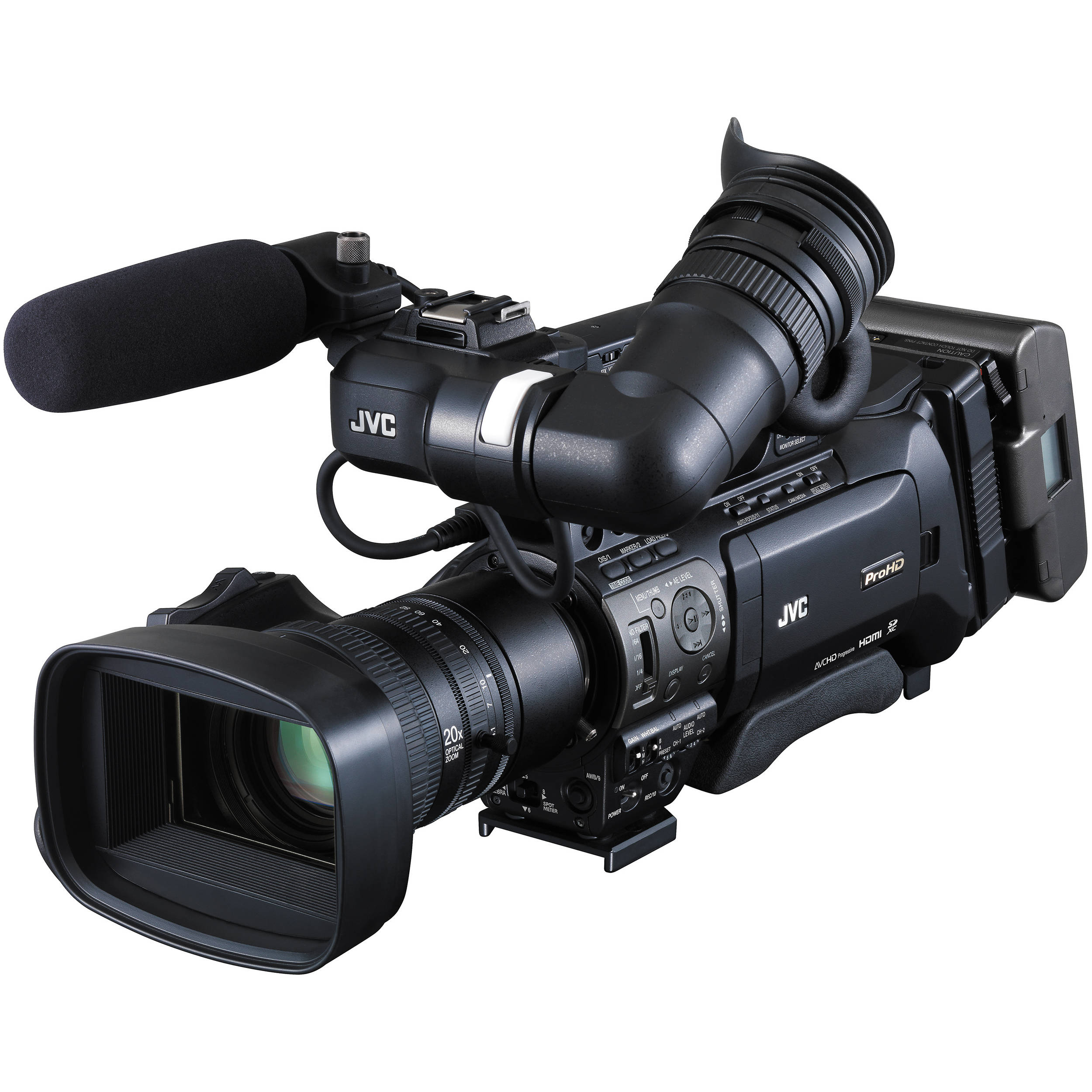 Jvc Gy Hm850u Prohd Compact Shoulder Mount Camera Gy