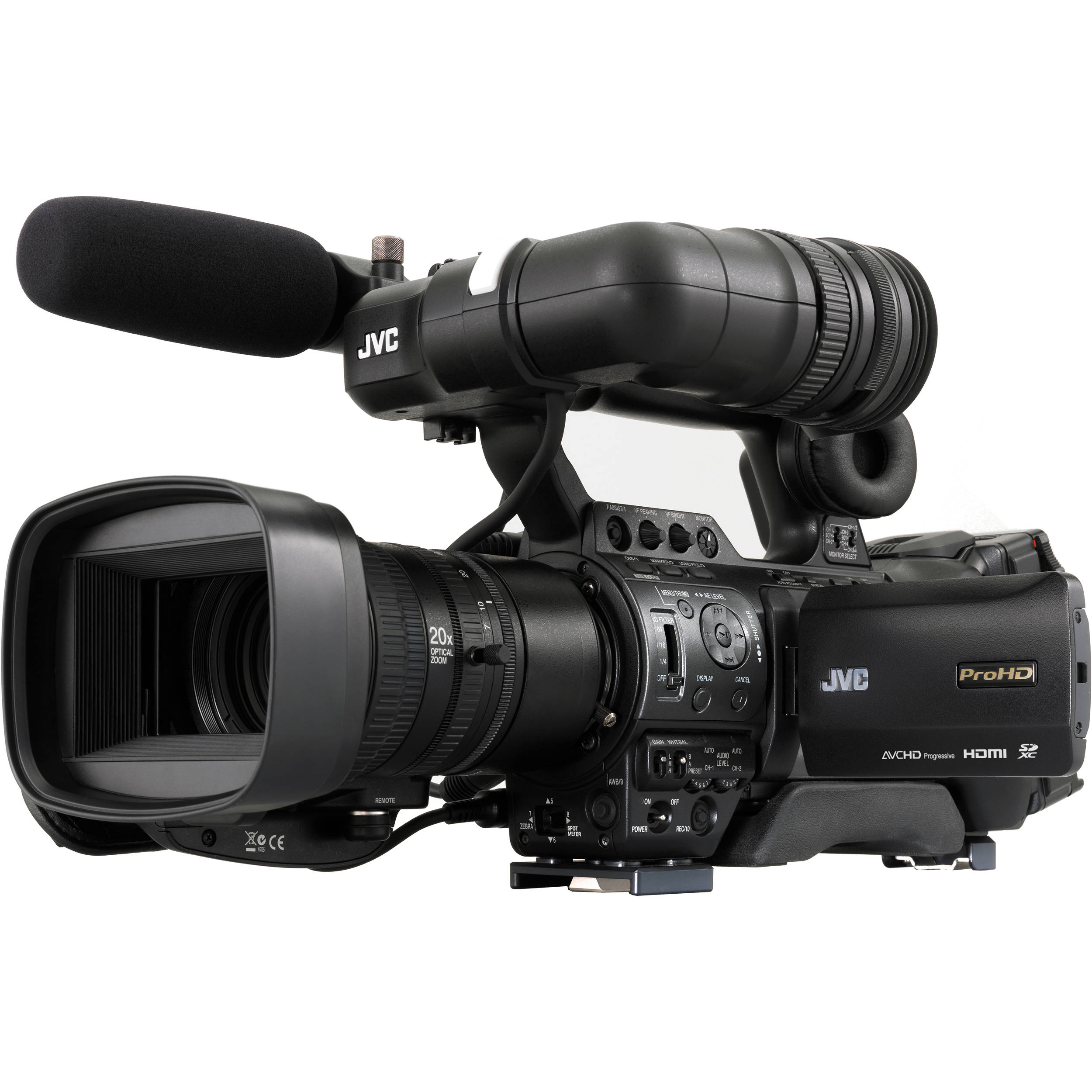 JVC GY-HM890U ProHD Compact Shoulder Mount Camera GY ...