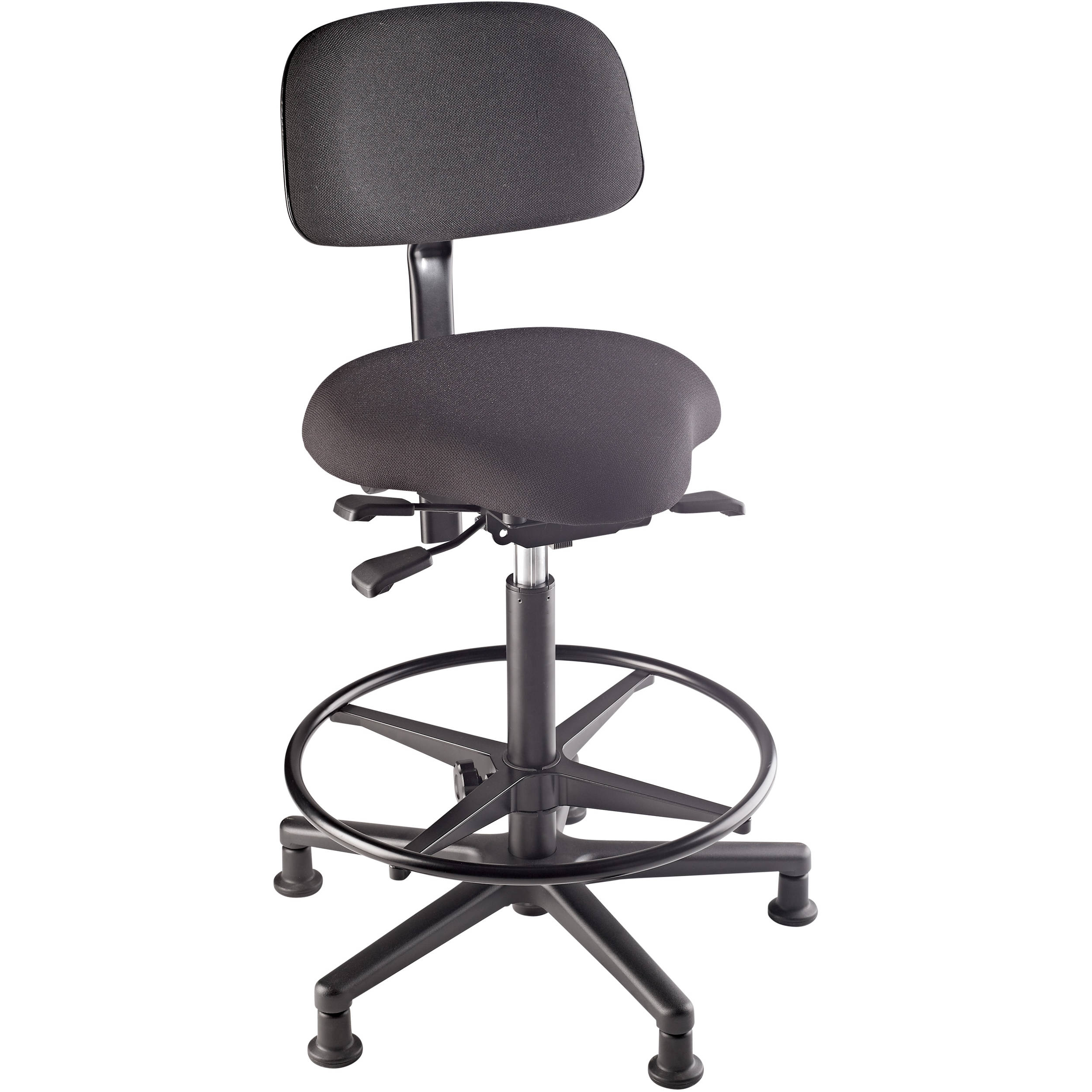 fully adjustable office chair. K\u0026M 13460 Fully-Adjustable Bass Stool With Upholstered Seat And Backrest (Black) Fully Adjustable Office Chair