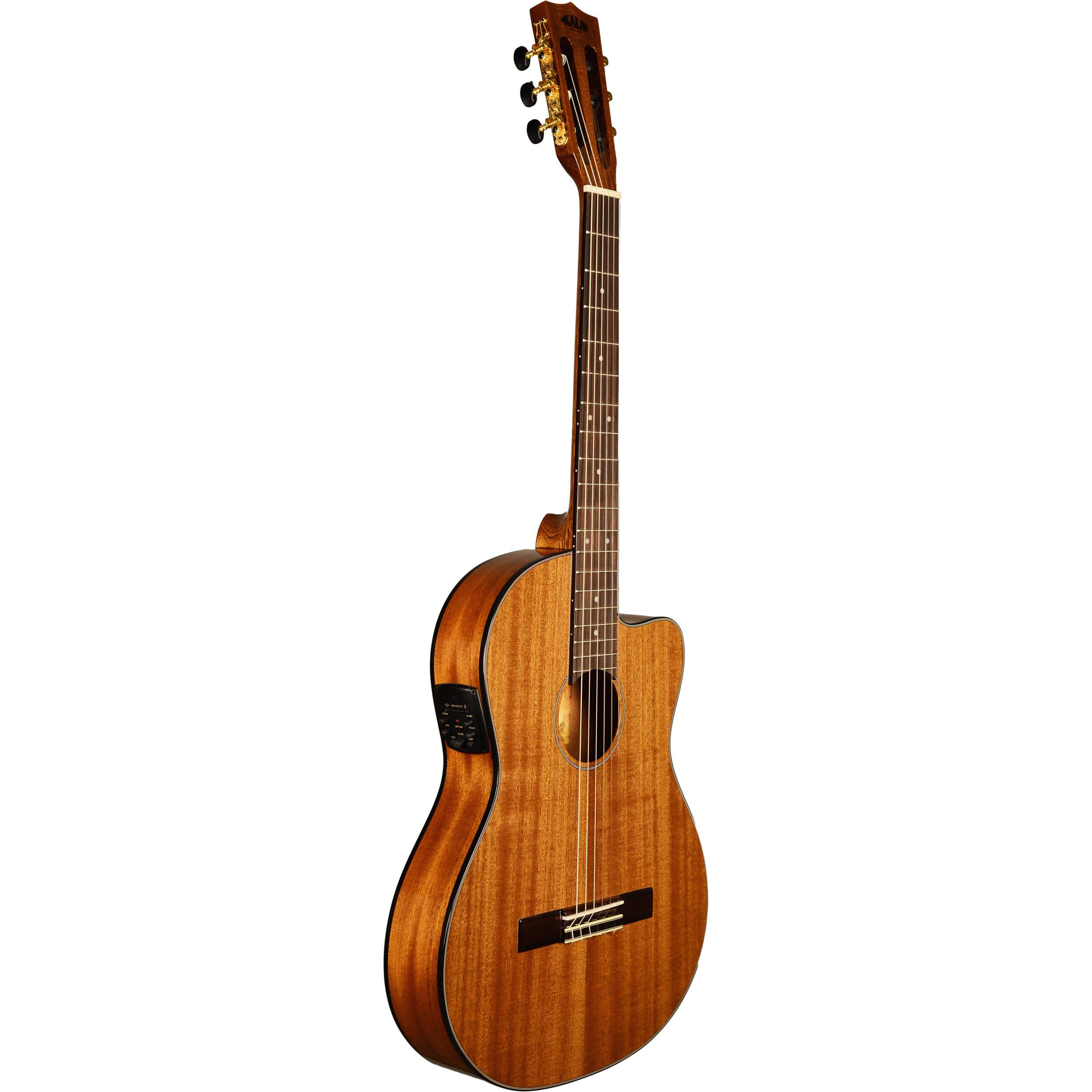 kala thinline nylon string acoustic electric guitar ka gtr mtn e. Black Bedroom Furniture Sets. Home Design Ideas