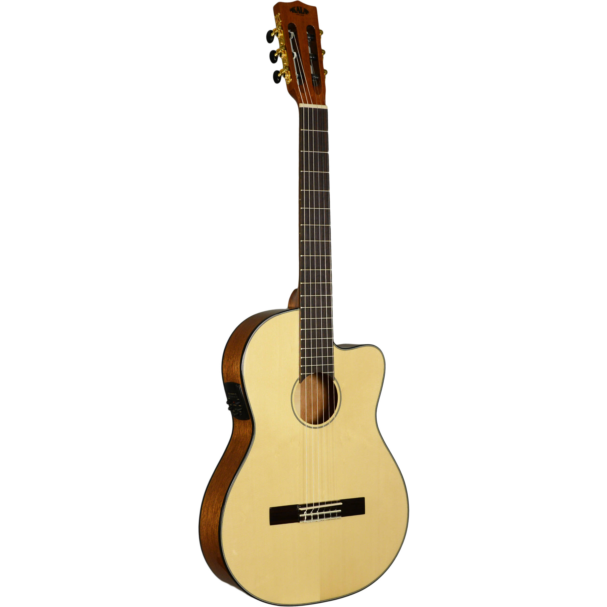 kala thinline nylon string acoustic electric guitar. Black Bedroom Furniture Sets. Home Design Ideas