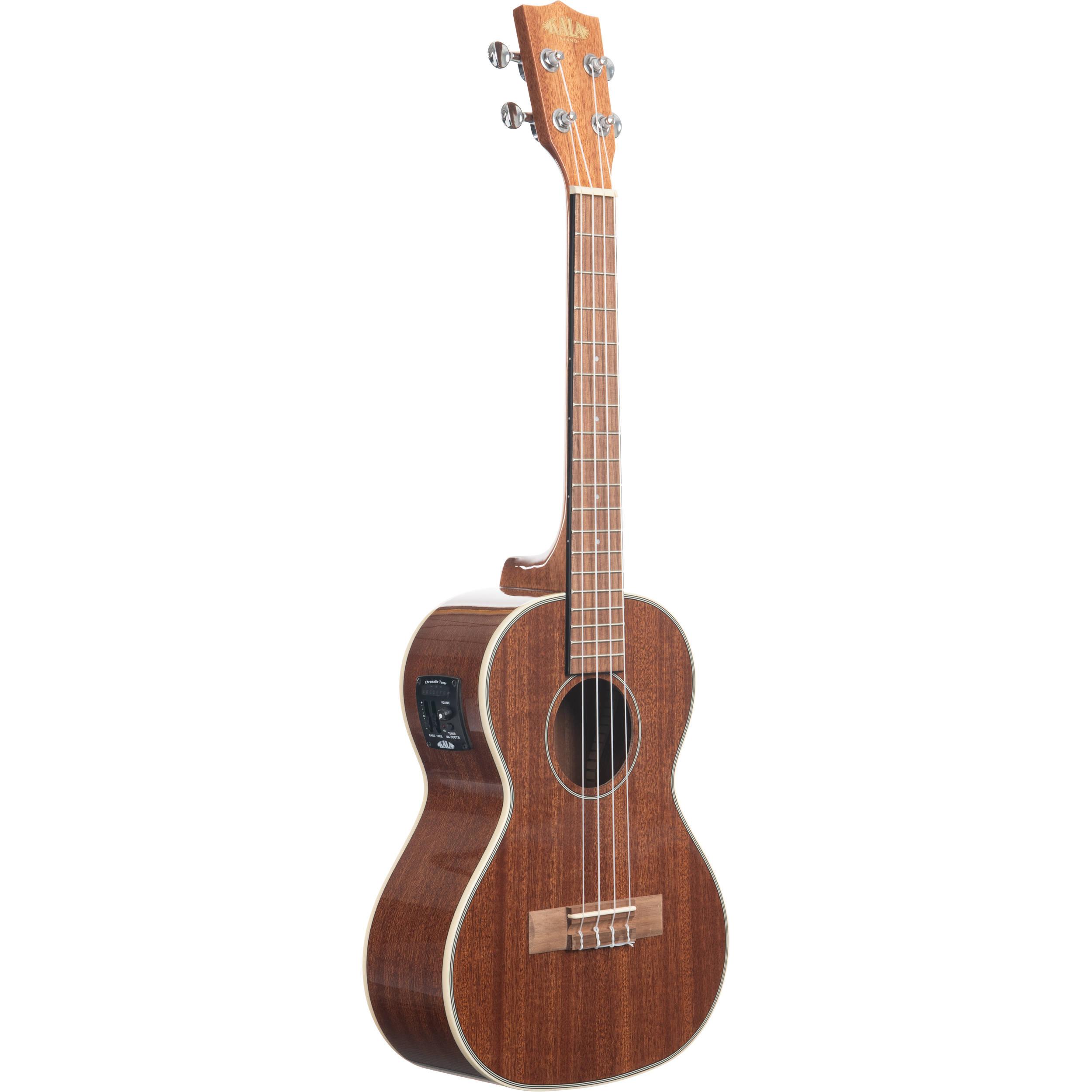 kala gloss mahogany mahogany electric tenor ukulele ka tge b h. Black Bedroom Furniture Sets. Home Design Ideas