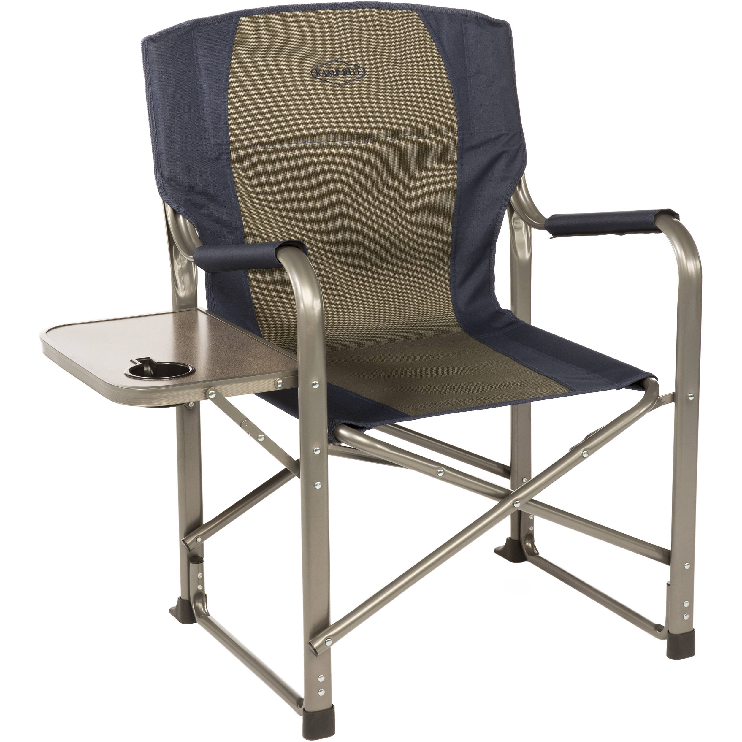 KAMP RITE Folding Director s Chair with Side Table CC105 B&H