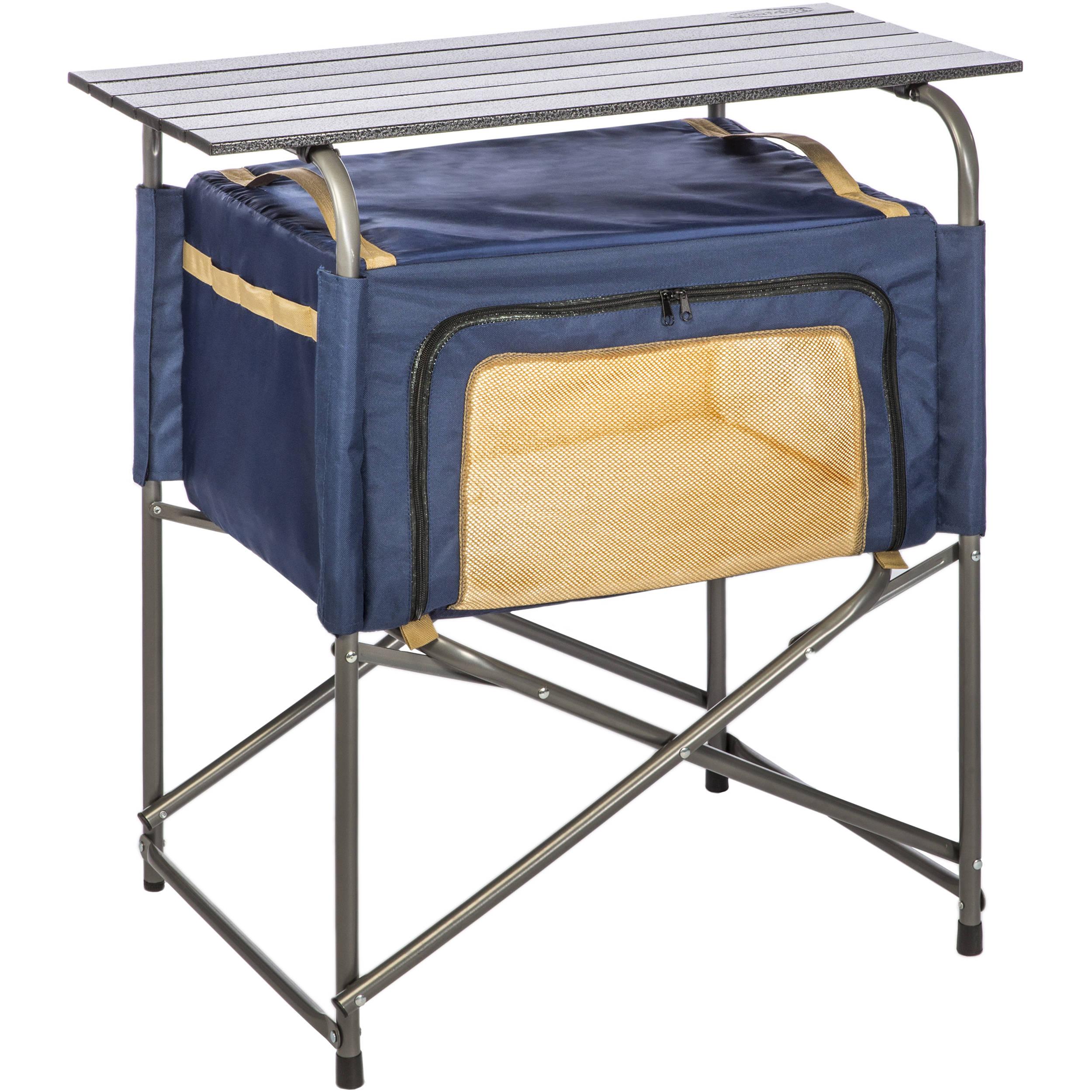 Kamp Rite Ez Prep Table With Soft Storage Cabinet Kpt171 B Amp H