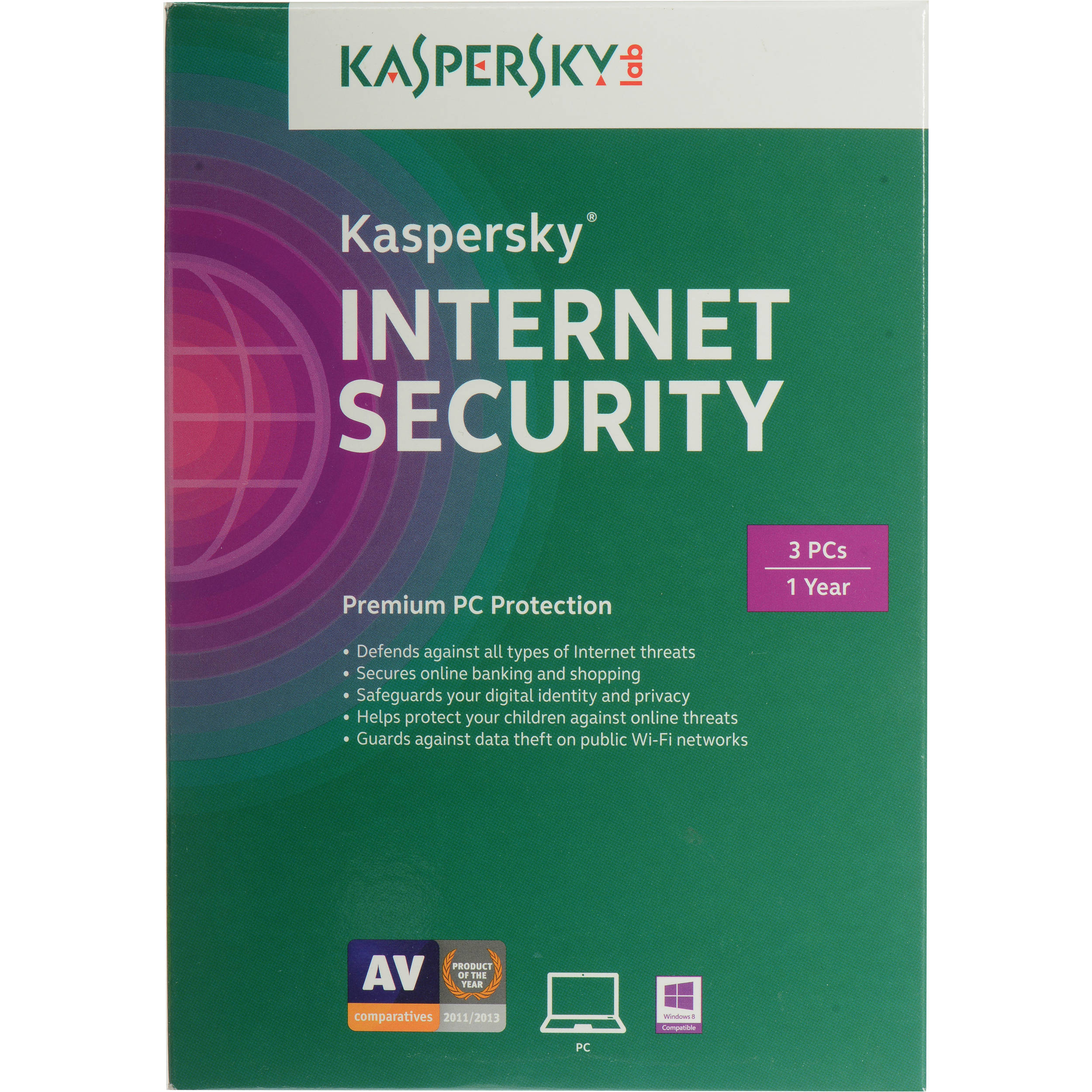 Used Kaspersky Internet Security 2015 KIS1503121USZZ B&H Photo