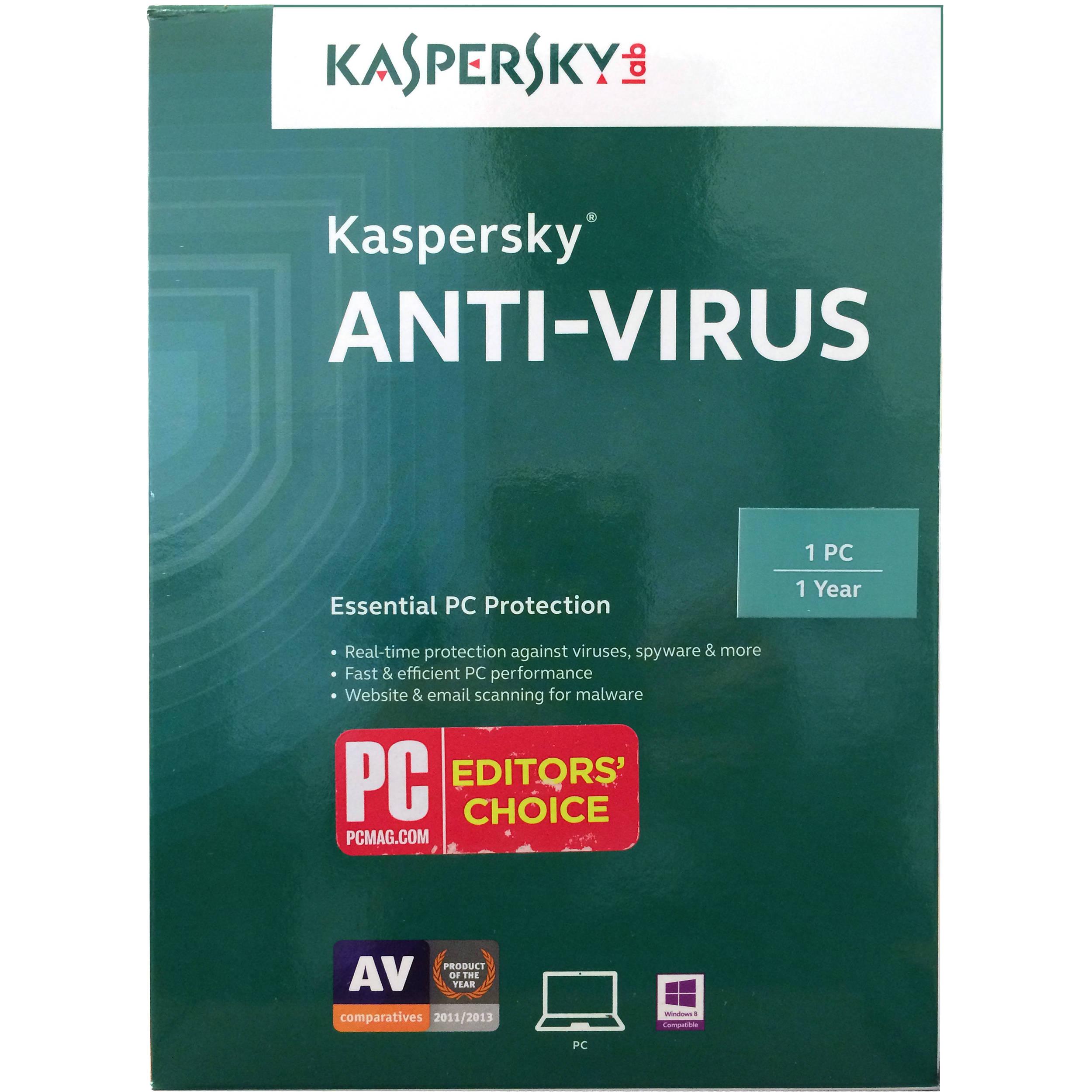 Kaspersky Anti-Virus 2016 KL1167ACAFS B&H Photo Video