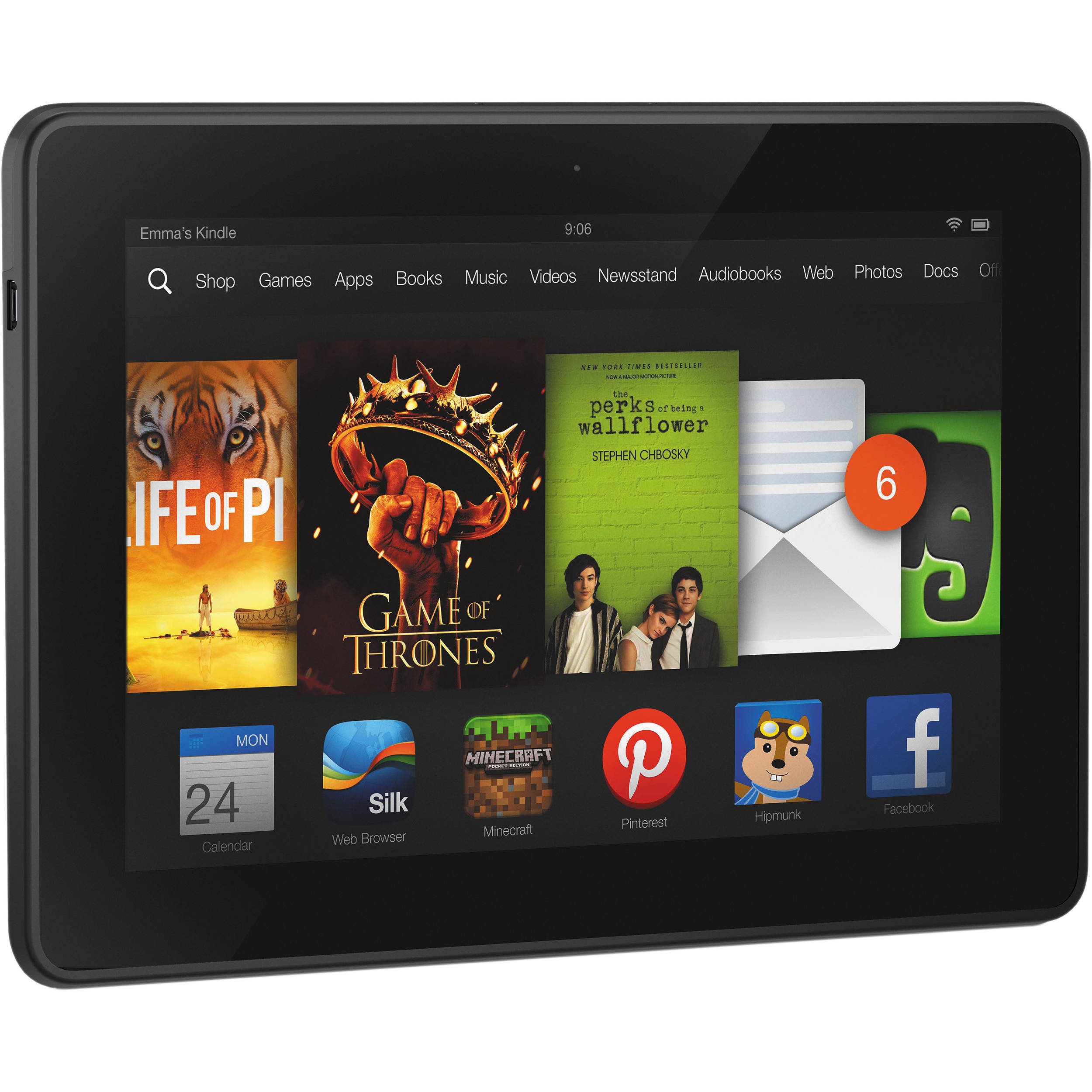 Kindle 16gb Fire Hdx 7 Quot Tablet B00bwyq9ye B Amp H Photo Video