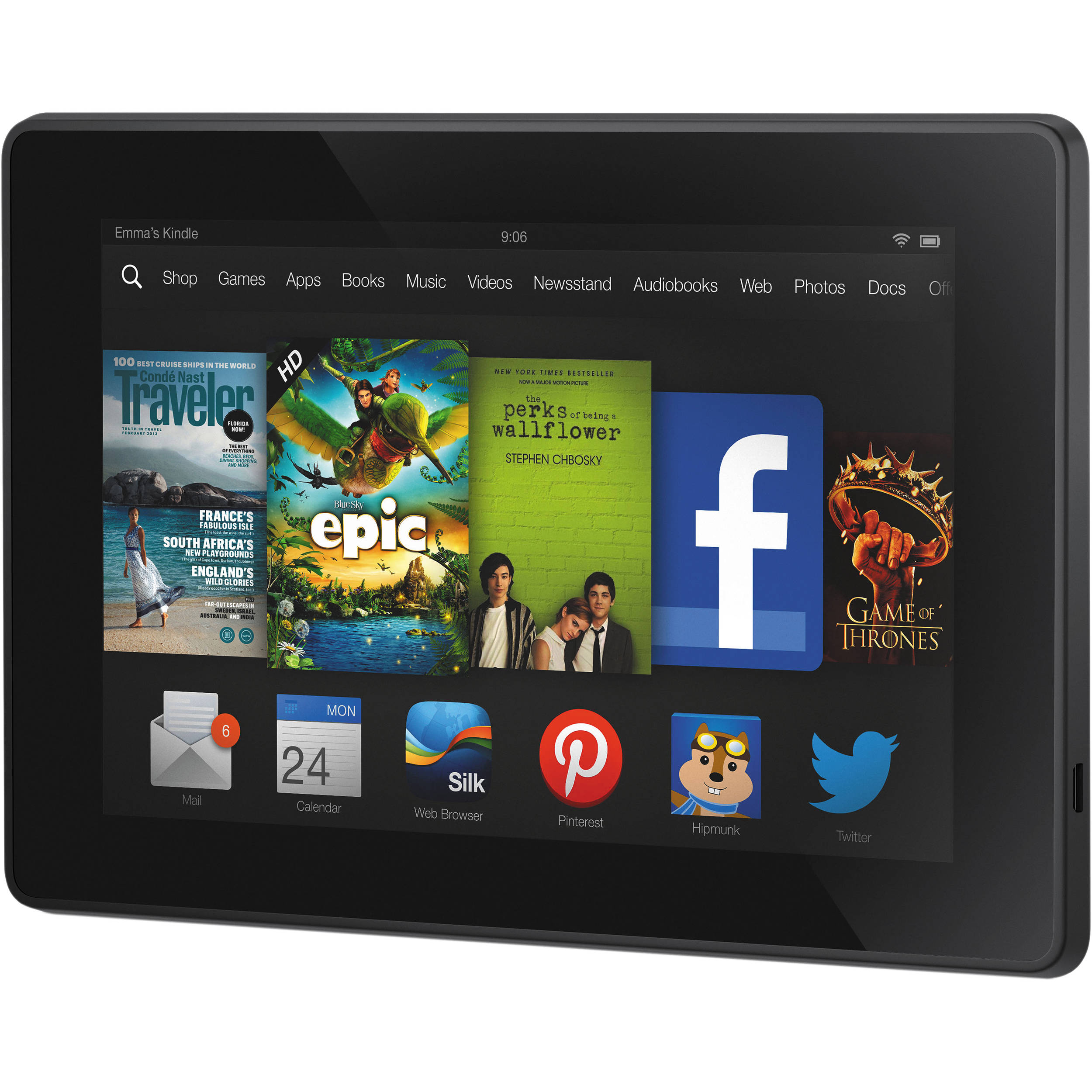 kindle 16gb fire hd 7 tablet b00c5w16b8 b h photo video rh bhphotovideo com kindle fire hdx 7 user manual pdf kindle fire hd 7 manual español pdf