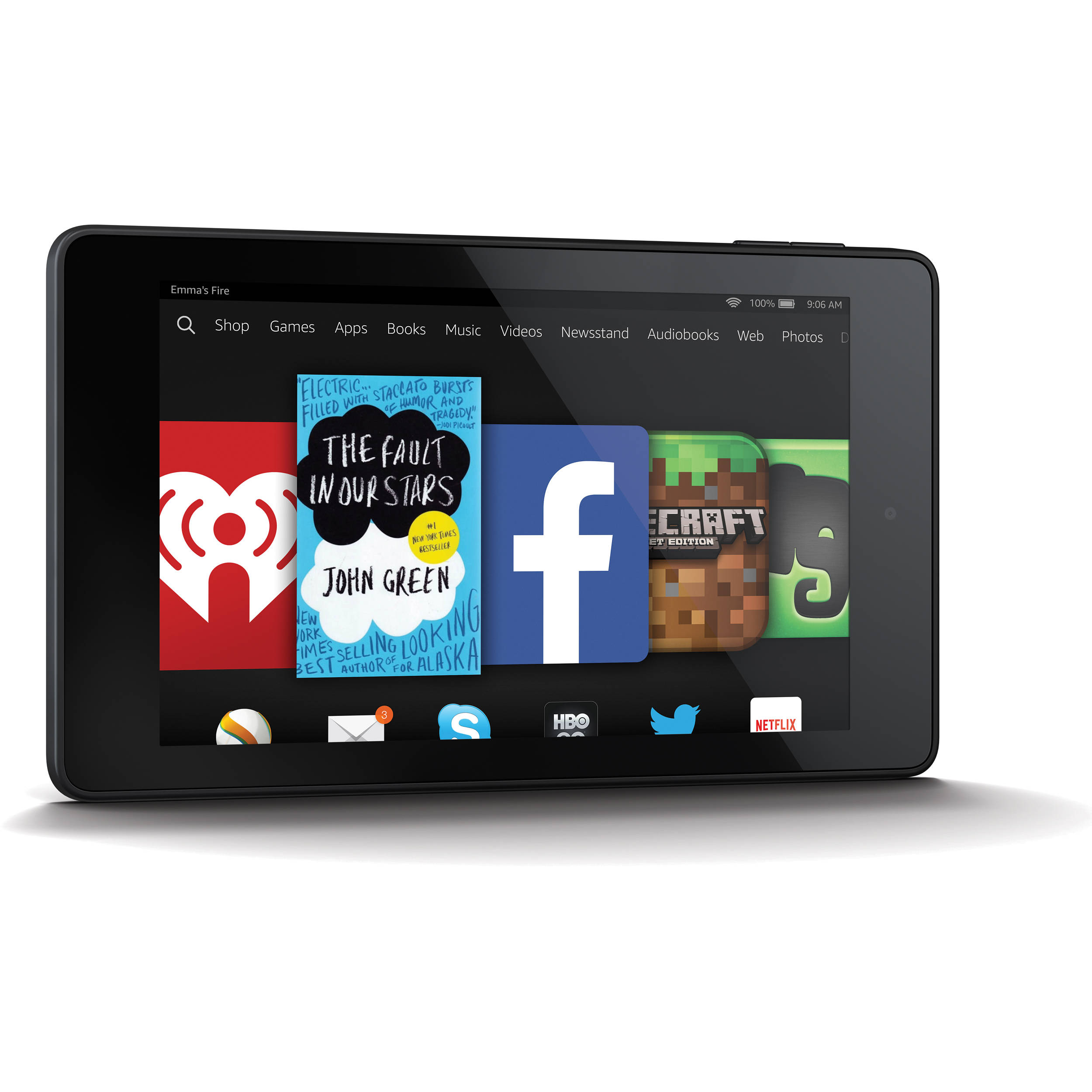 Used kindle 8gb fire hd 6 wi fi tablet b00kc6i06s b h photo - Six uses old tablet ...