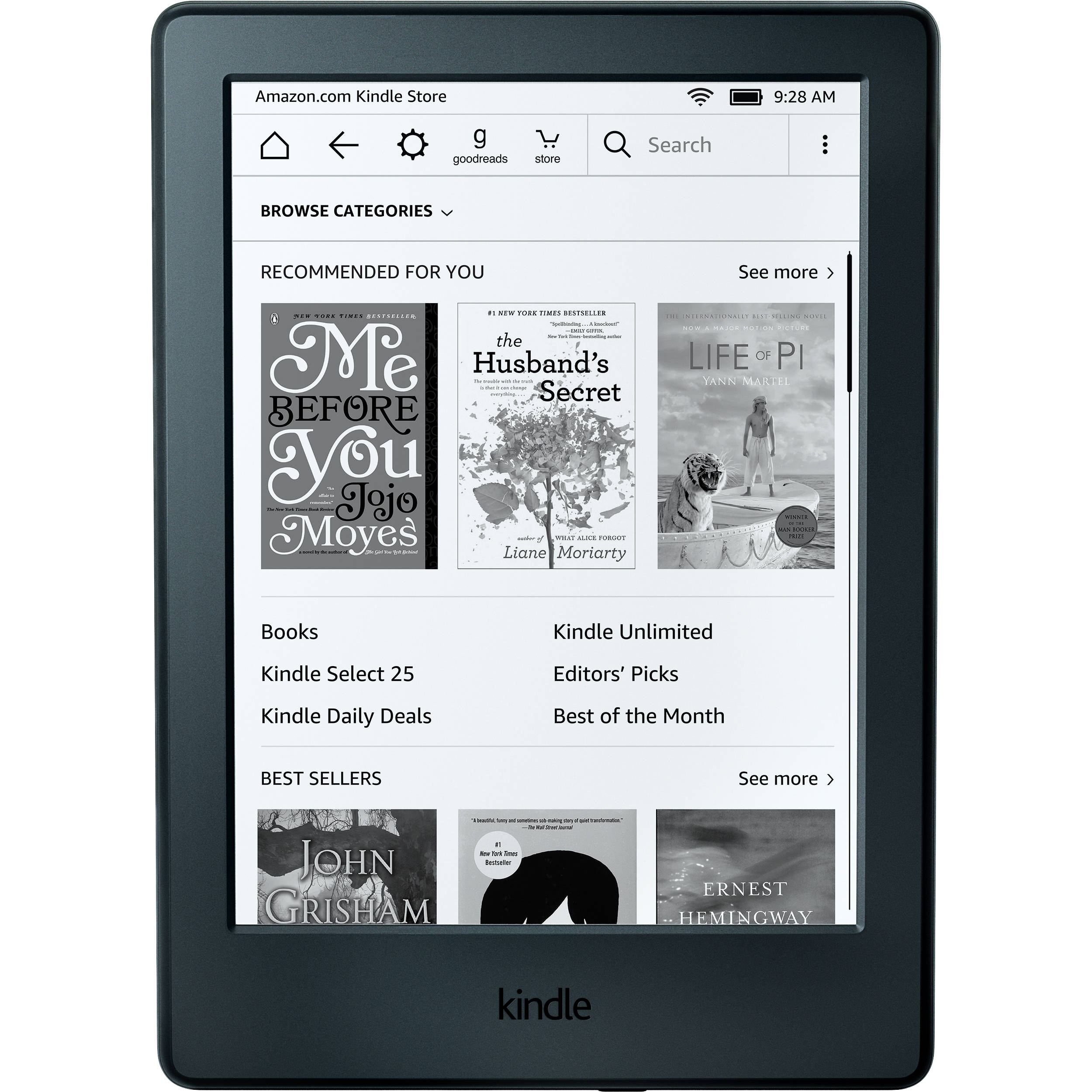 Kindle 6 ereader b00zv9pxp2 bh photo video kindle 6 ereader special offers advertisements black ccuart Image collections
