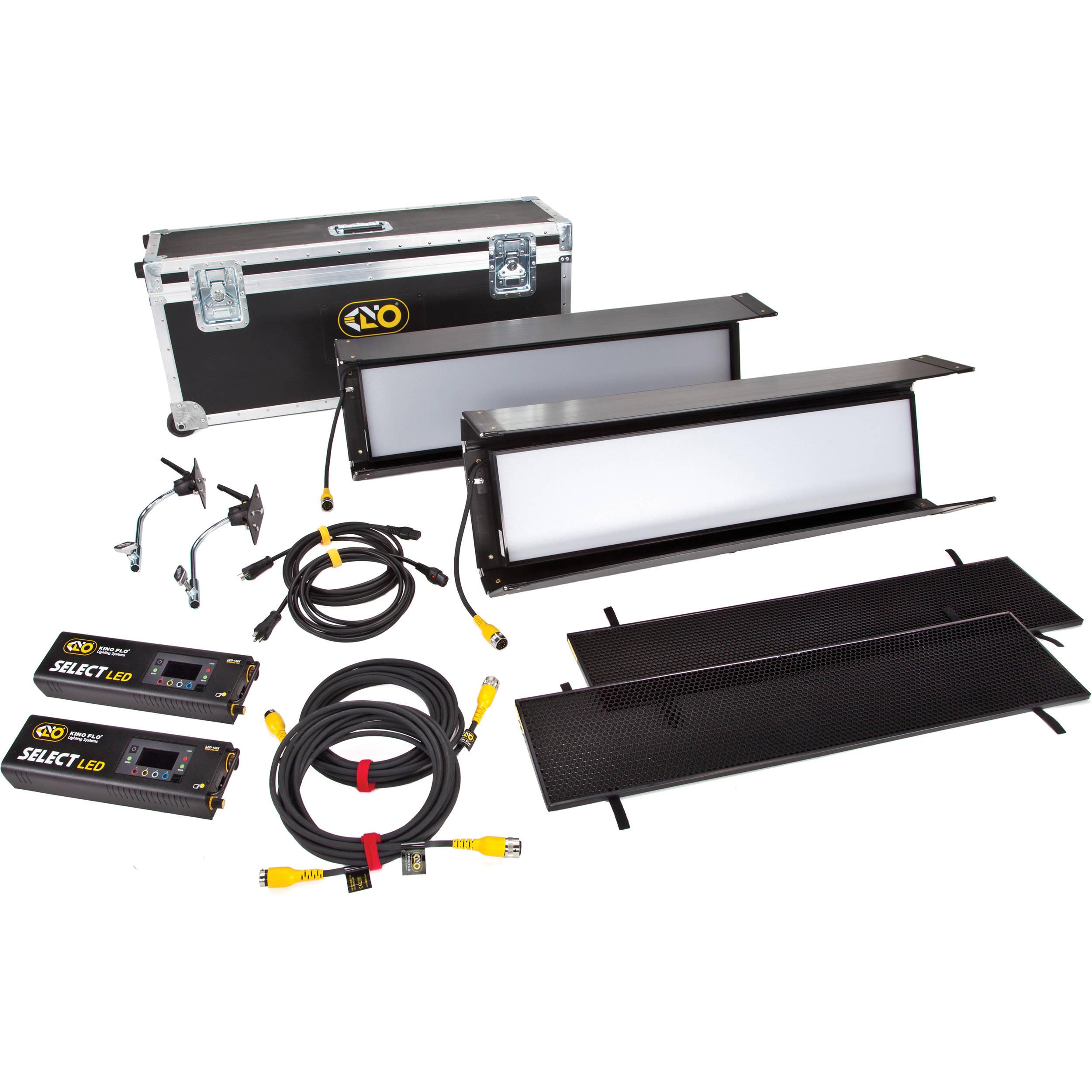 Kino flo gaffer 30 dmx 2 light shipping case kit kit s32 120u for Select light