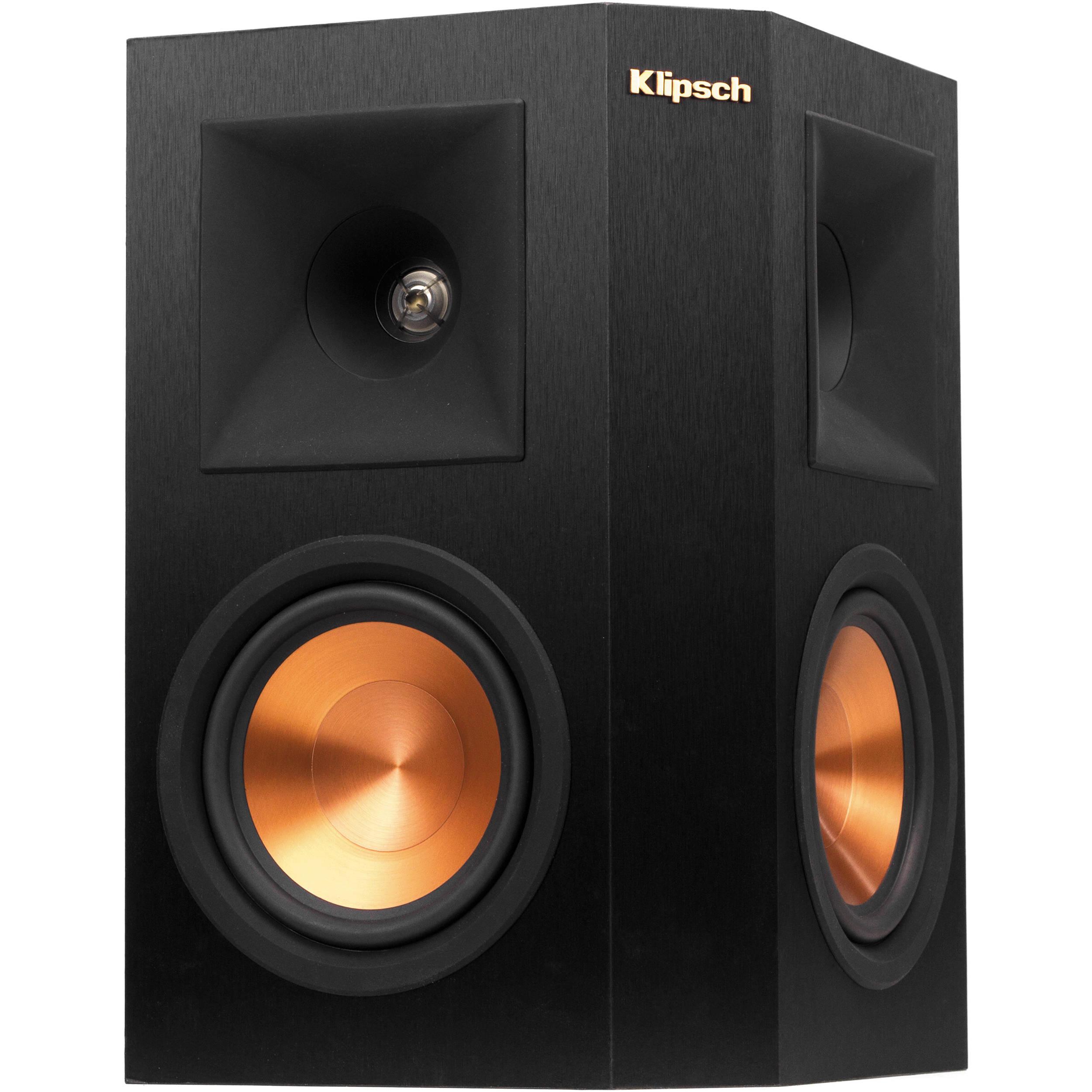 klipsch used speakers. klipsch reference premiere rp-250s surround speaker (black, single) used speakers