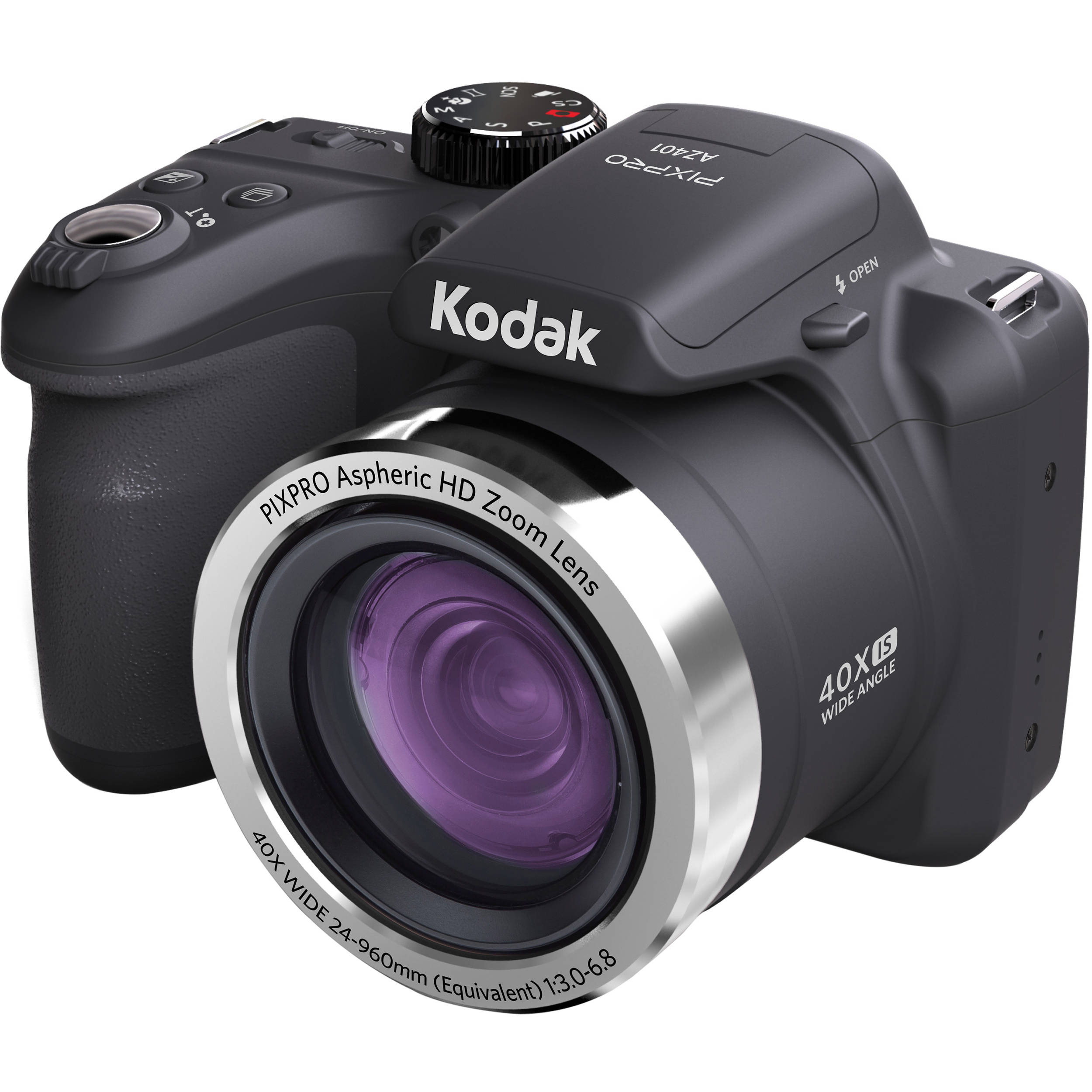 Kodak PIXPRO AZ401 Digital Camera (Black) AZ401BK B&H Photo
