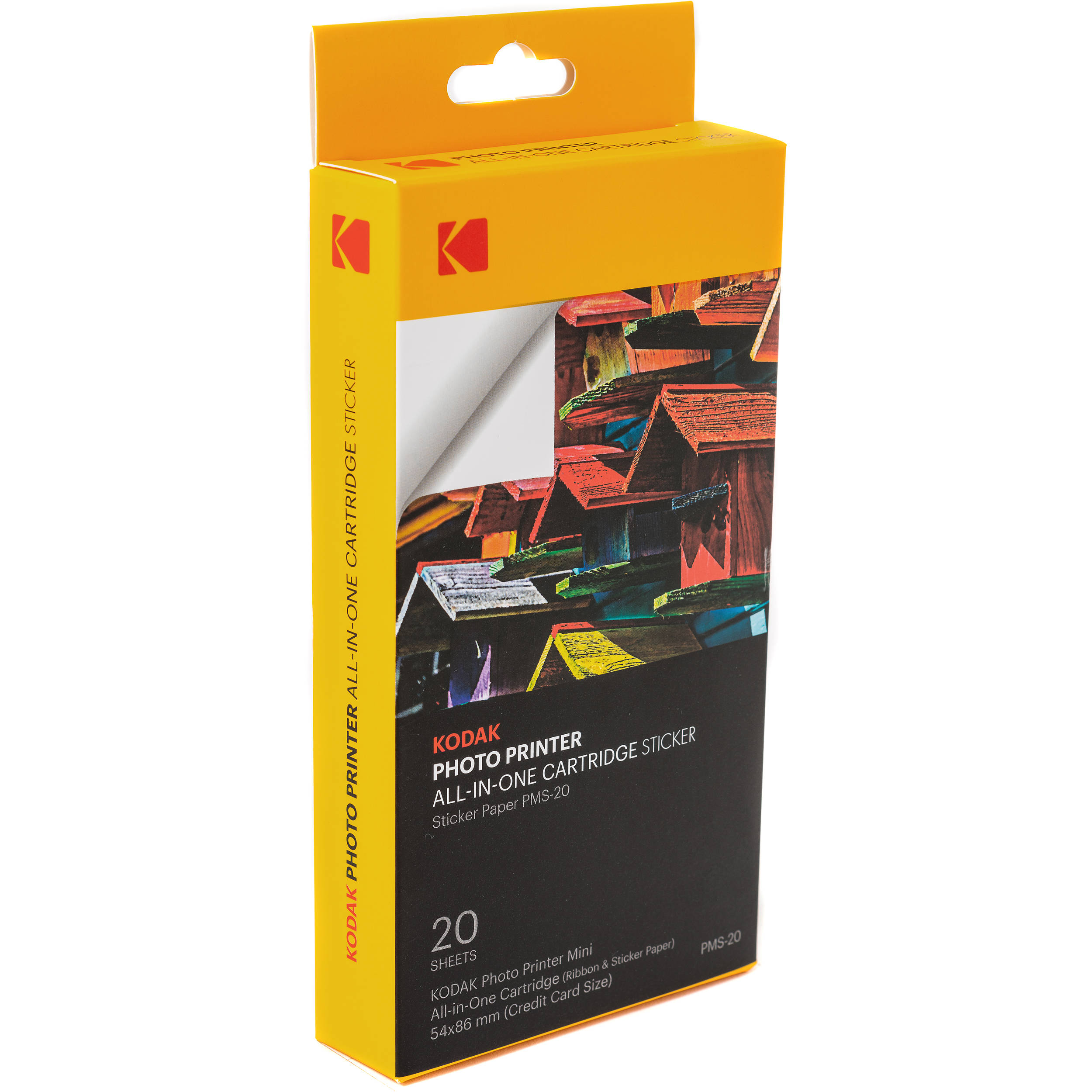 Kodak pms 20 photo printer mini sticker all in one cartridge set