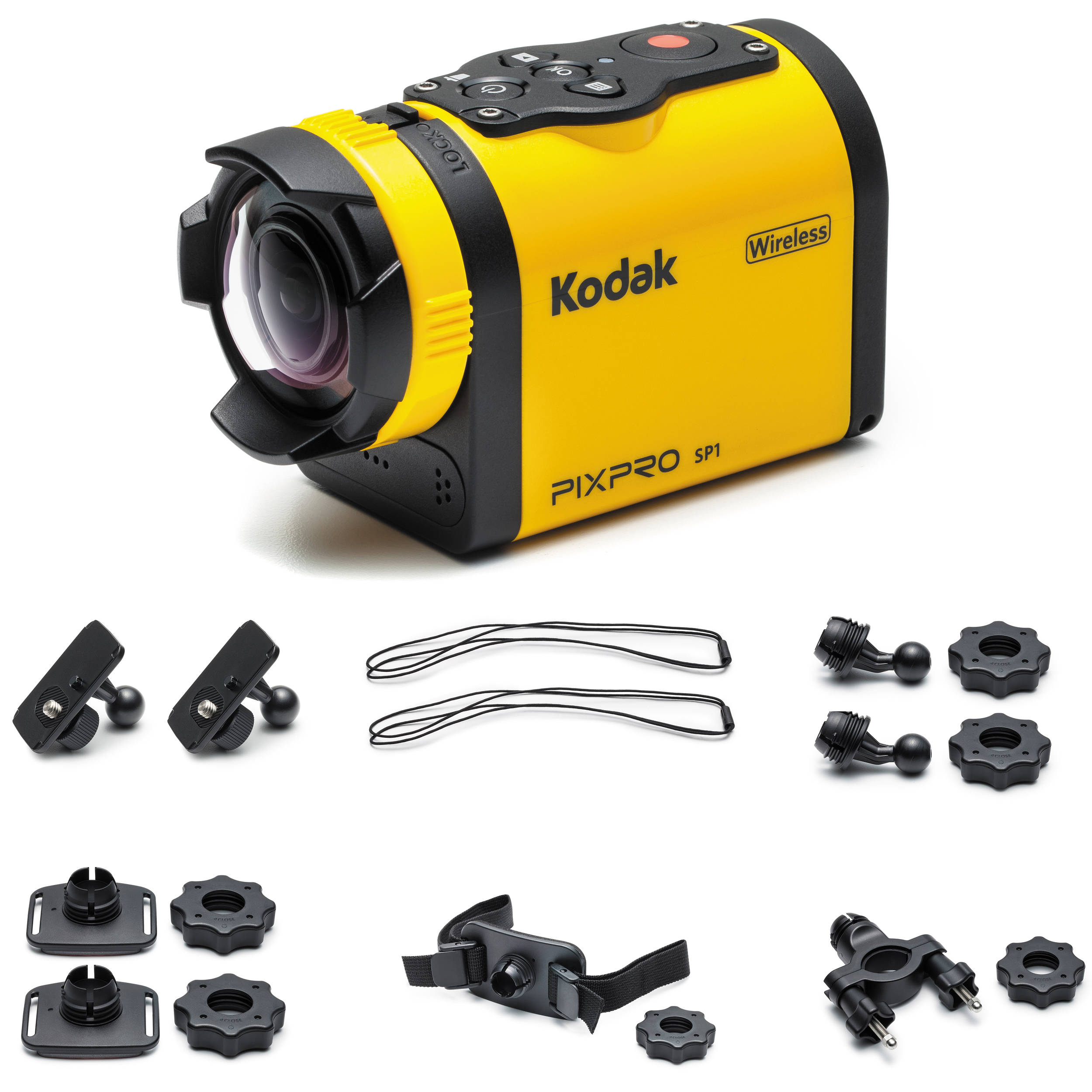 kodak pixpro sp1 action camera with explorer pack sp1 yl3 b h