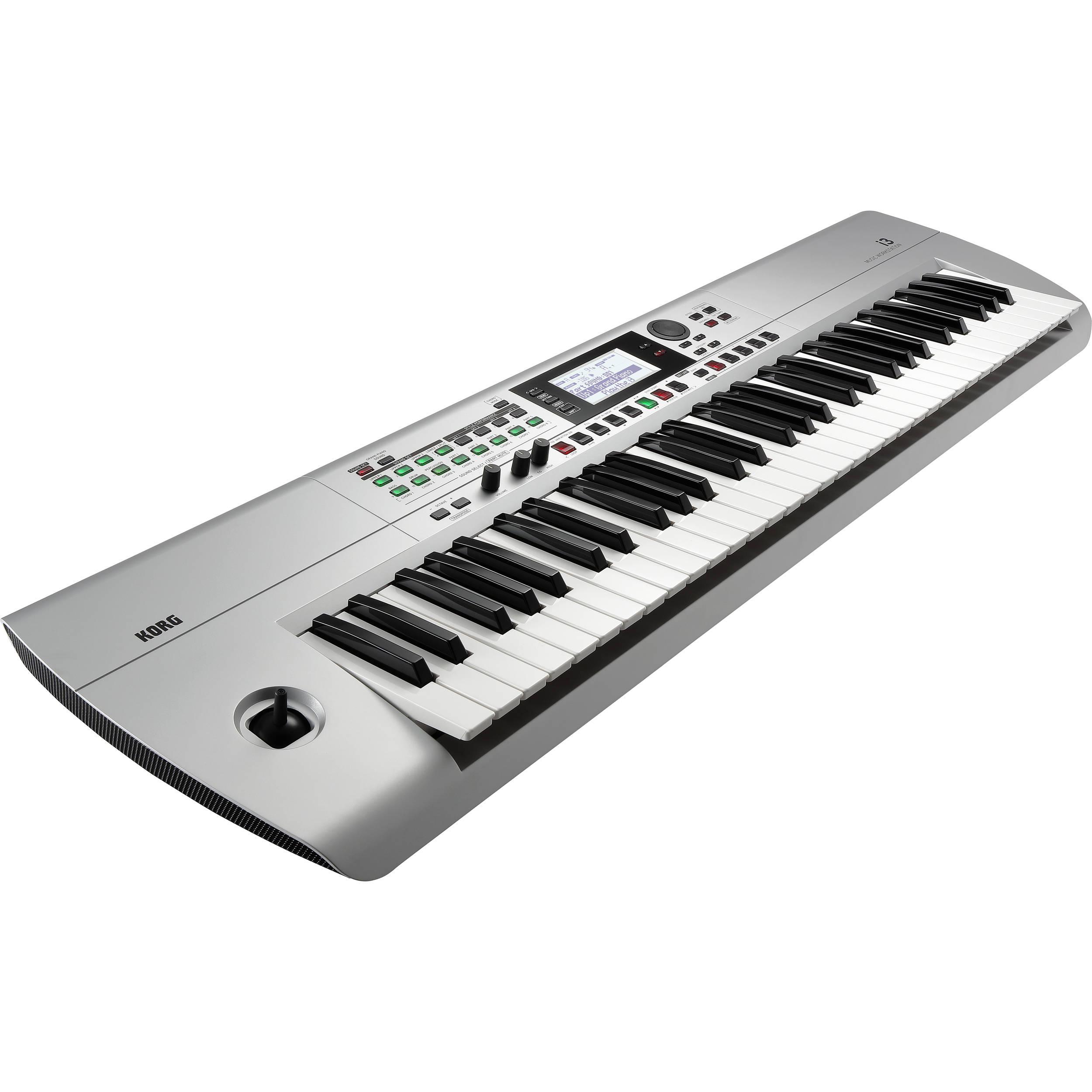Korg i3 61-Key Music Workstation (Silver) I3MS B&H Photo Video