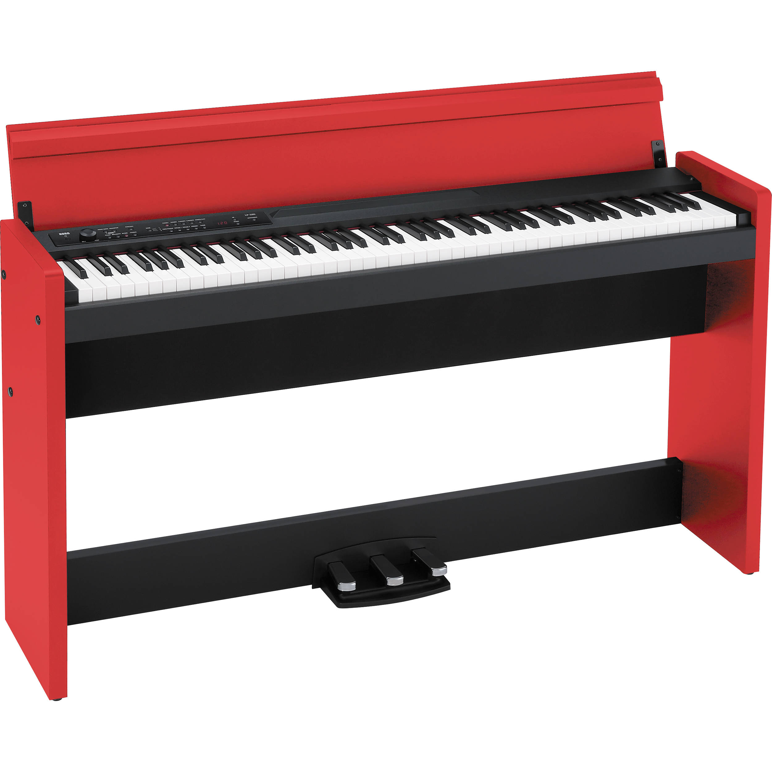 korg lp 380 88 key digital piano red black lp380bkr b h photo. Black Bedroom Furniture Sets. Home Design Ideas