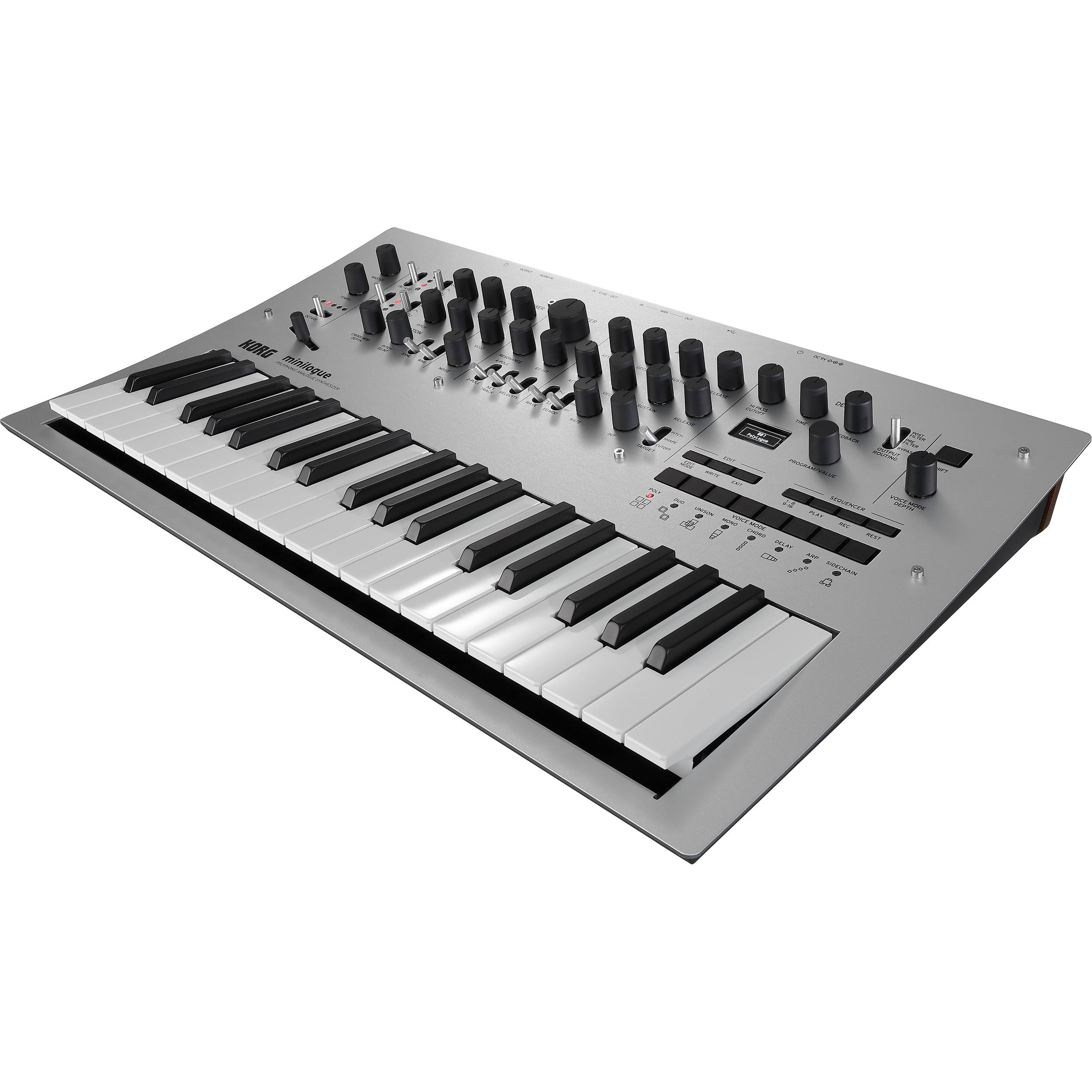 korg minilogue polyphonic analog synthesizer minilogue b h photo. Black Bedroom Furniture Sets. Home Design Ideas