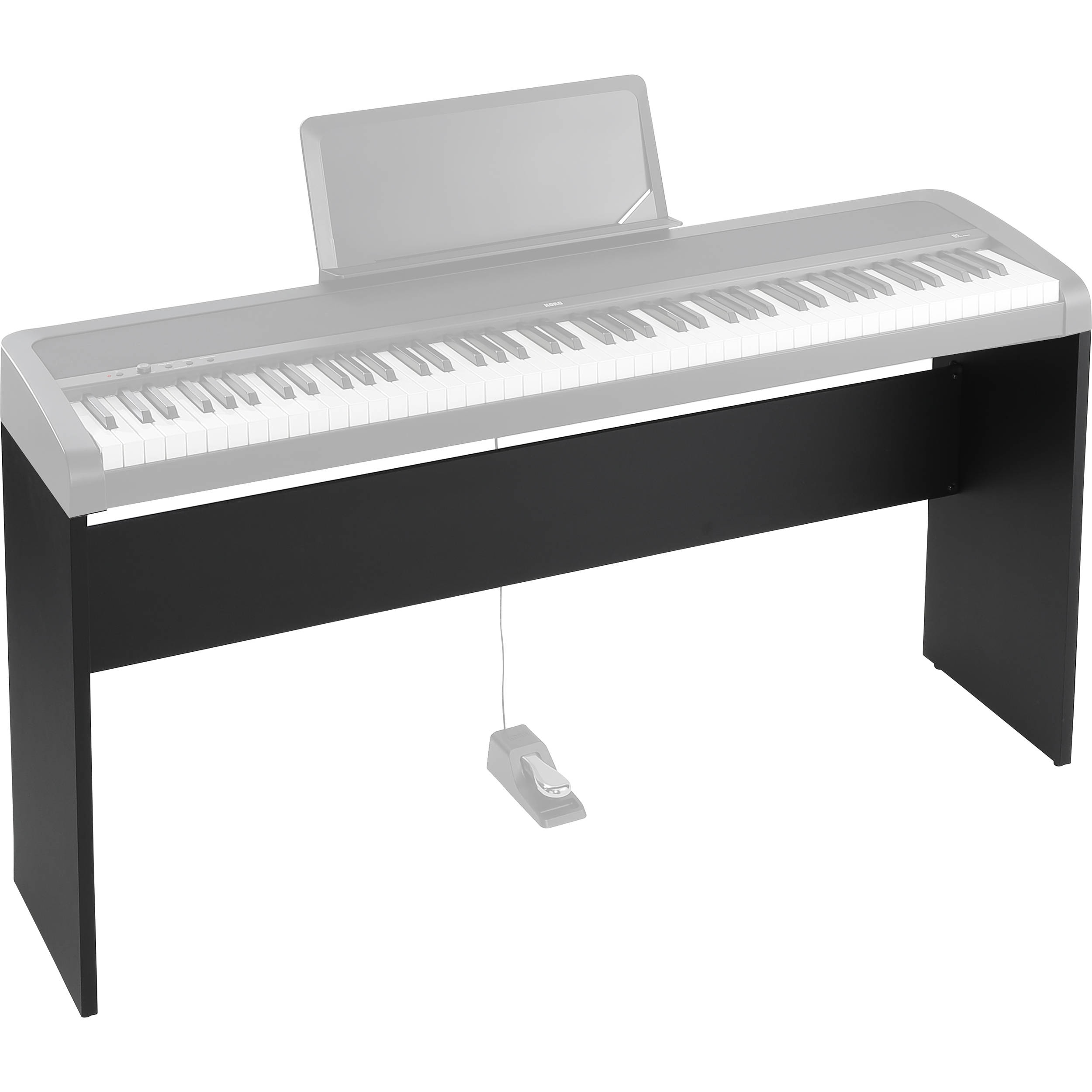 korg stb1 piano stand for b1 digital piano black stb1bk b h. Black Bedroom Furniture Sets. Home Design Ideas