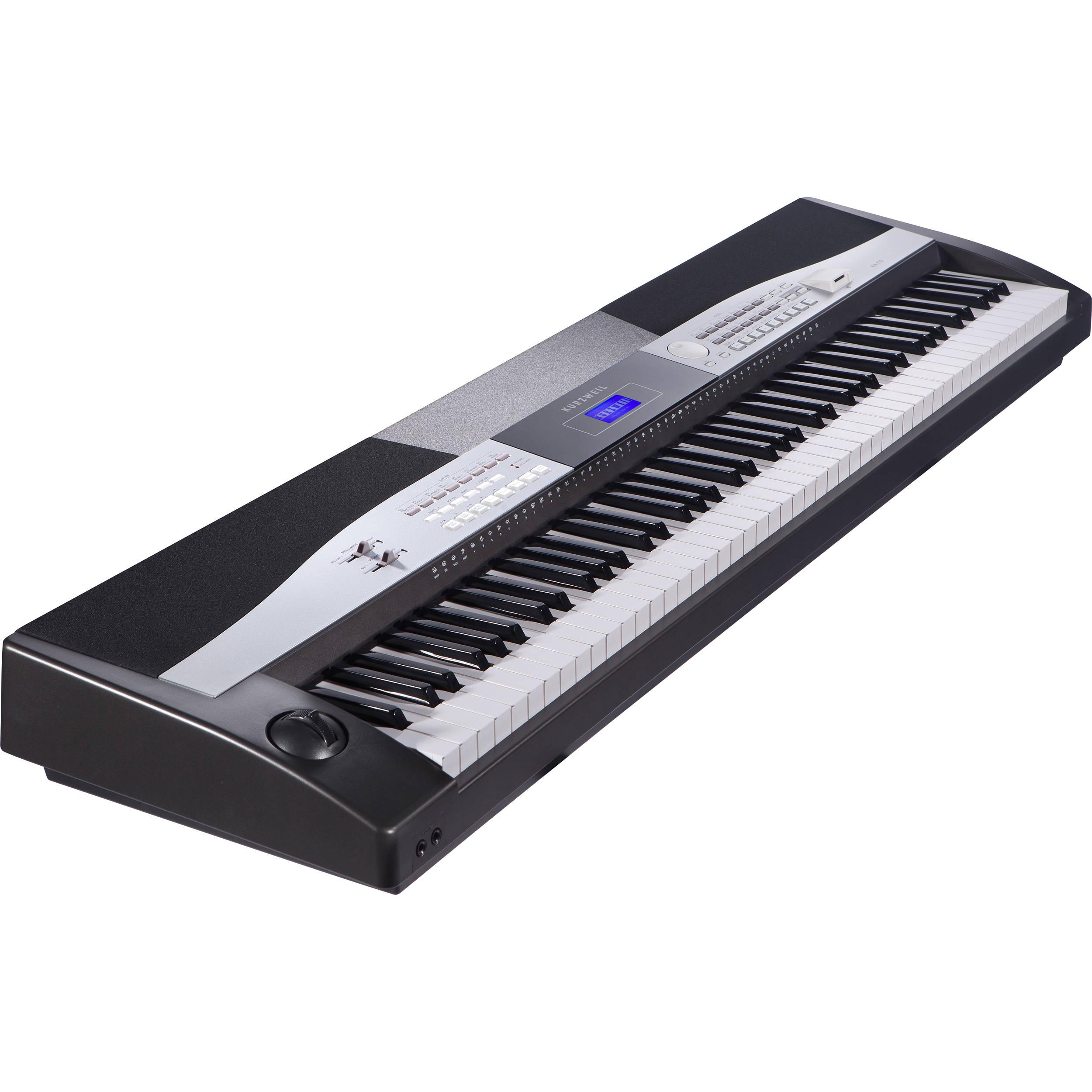 kurzweil ka110 arranger 3 pedal digital stage piano ka110 bl b h. Black Bedroom Furniture Sets. Home Design Ideas