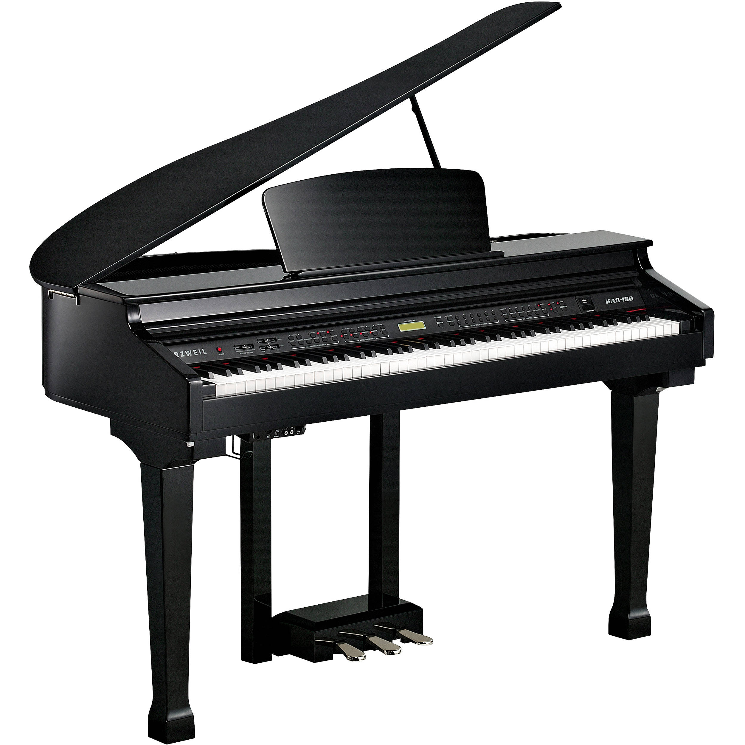 Kurzweil kag 100 digital mini size baby grand piano kag for Size of baby grand piano