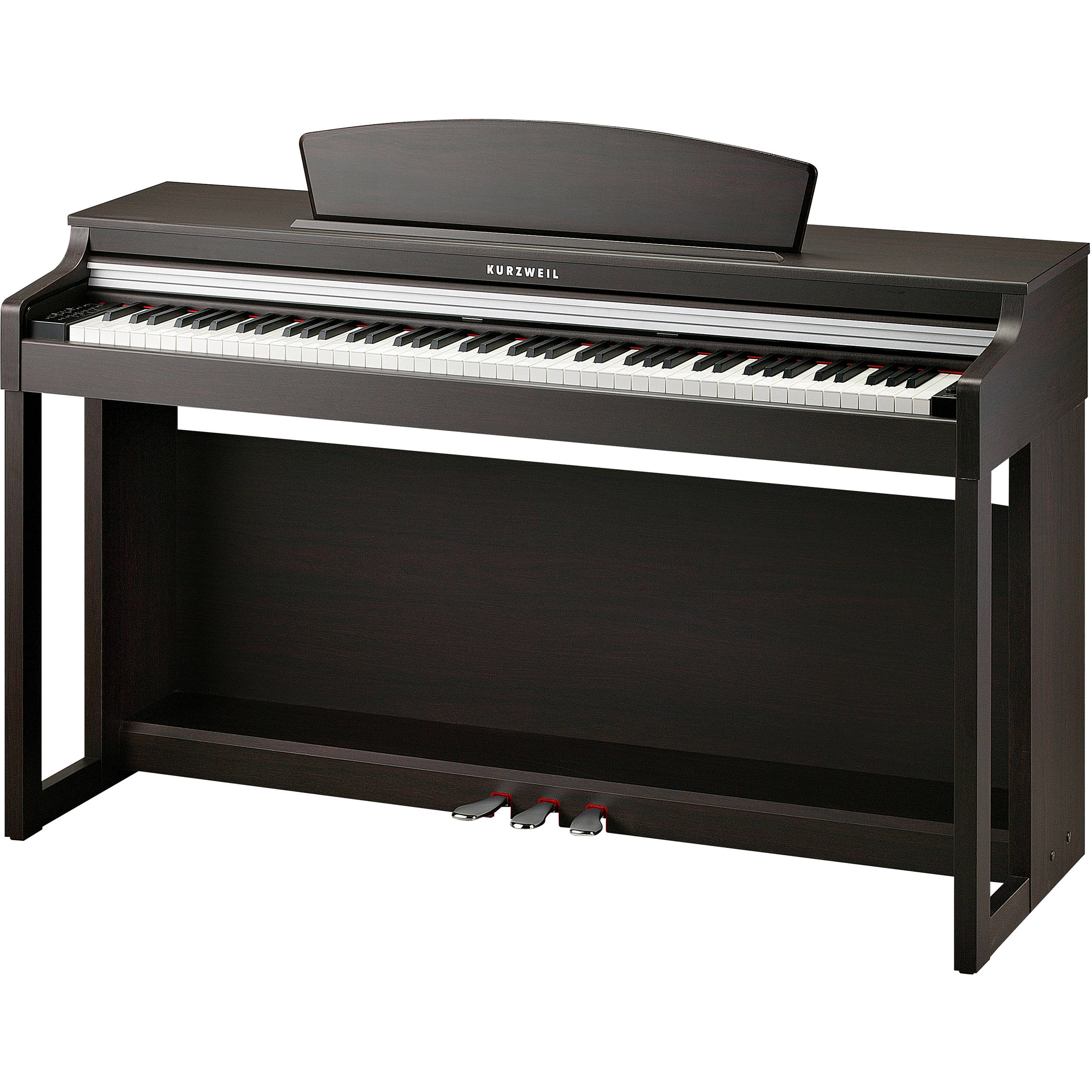 kurzweil m230 88 key digital piano with spinet style m230 sr b h. Black Bedroom Furniture Sets. Home Design Ideas