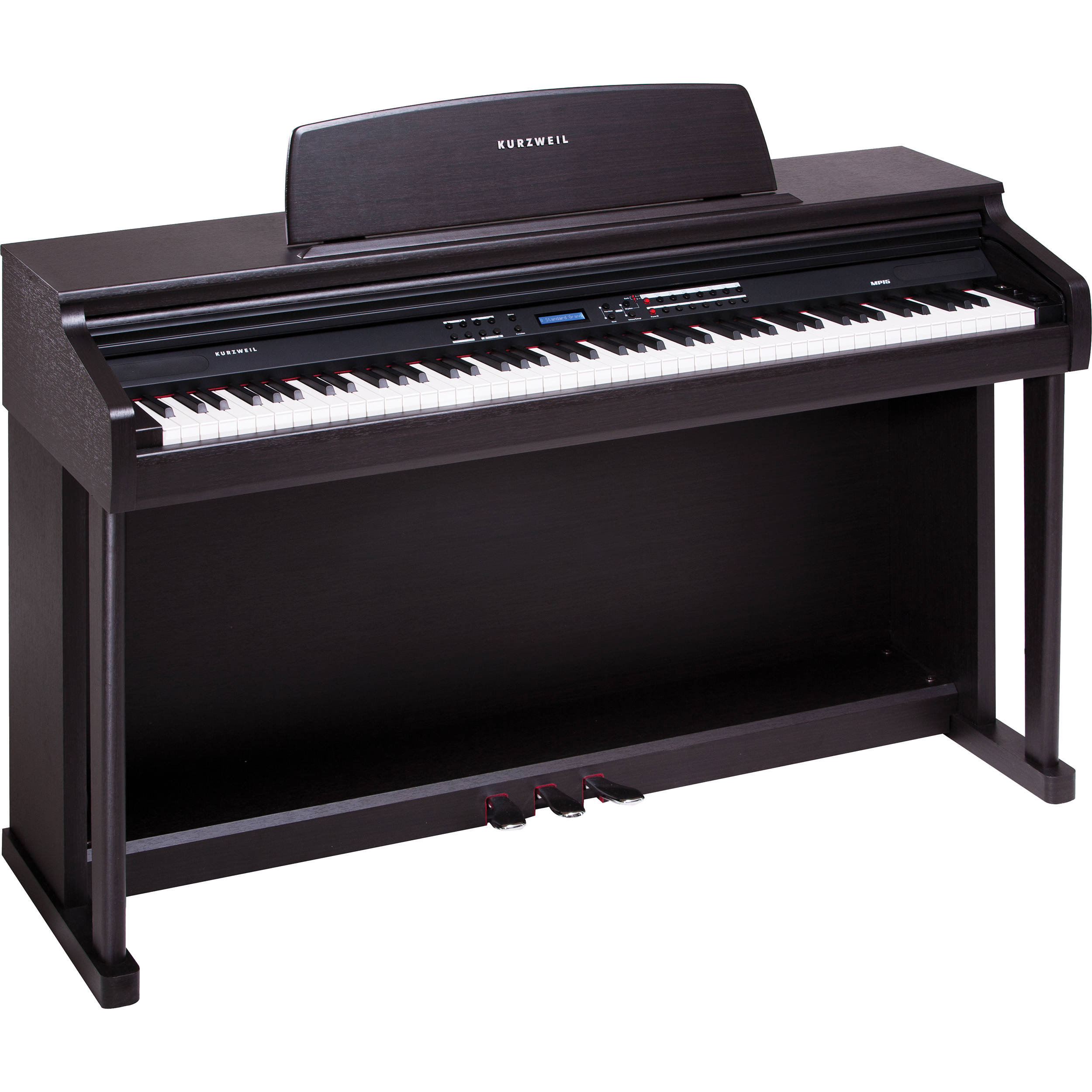 kurzweil mp 15 digital piano simulated rosewood mp15 sr b h. Black Bedroom Furniture Sets. Home Design Ideas