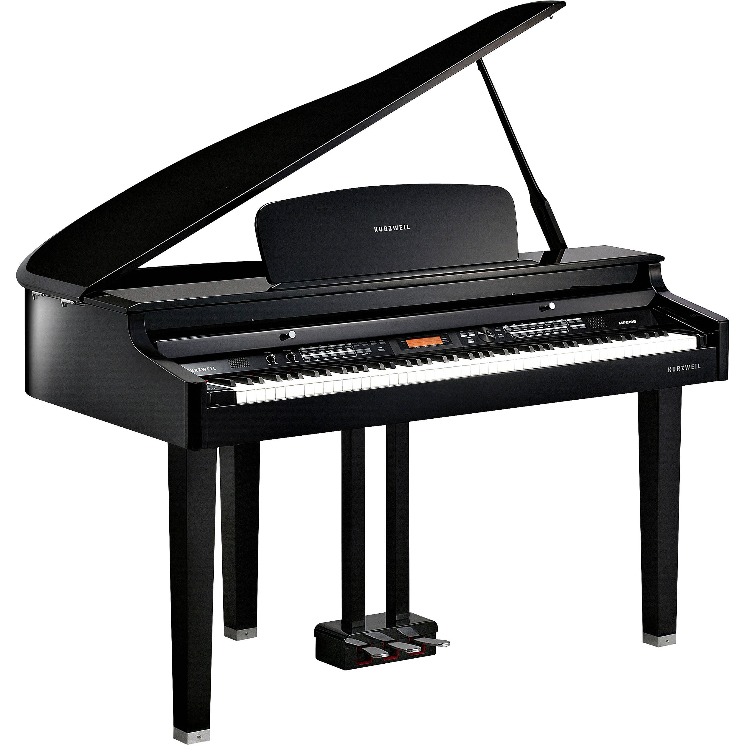 Kurzweil mpg100 digital mini size baby grand piano mpg100 for Size of baby grand piano