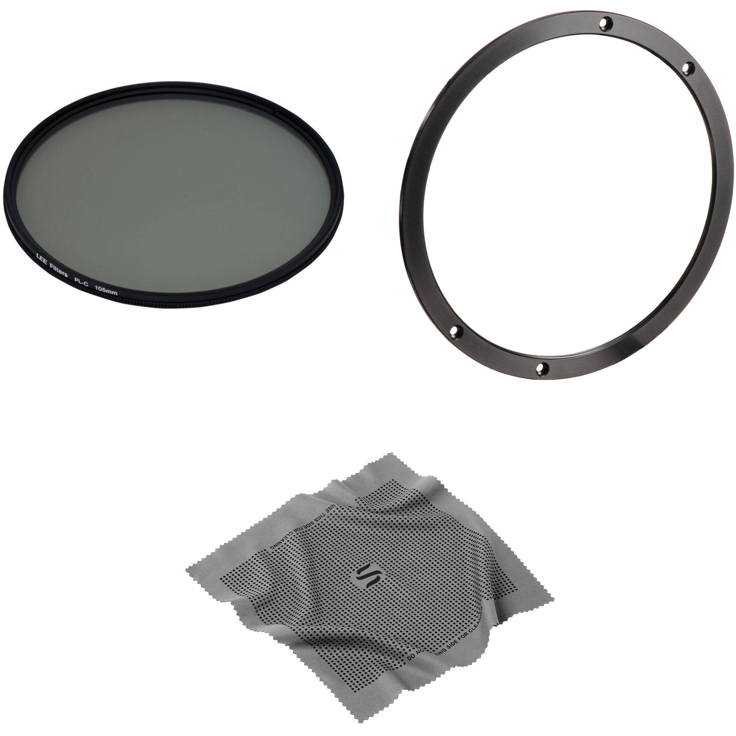 Lee Filters 105mm Landscape Circular Polarizer Filter Kit Bh Double Slotted Lens Hood With Accessory Ring For 100mm System And Microfiber