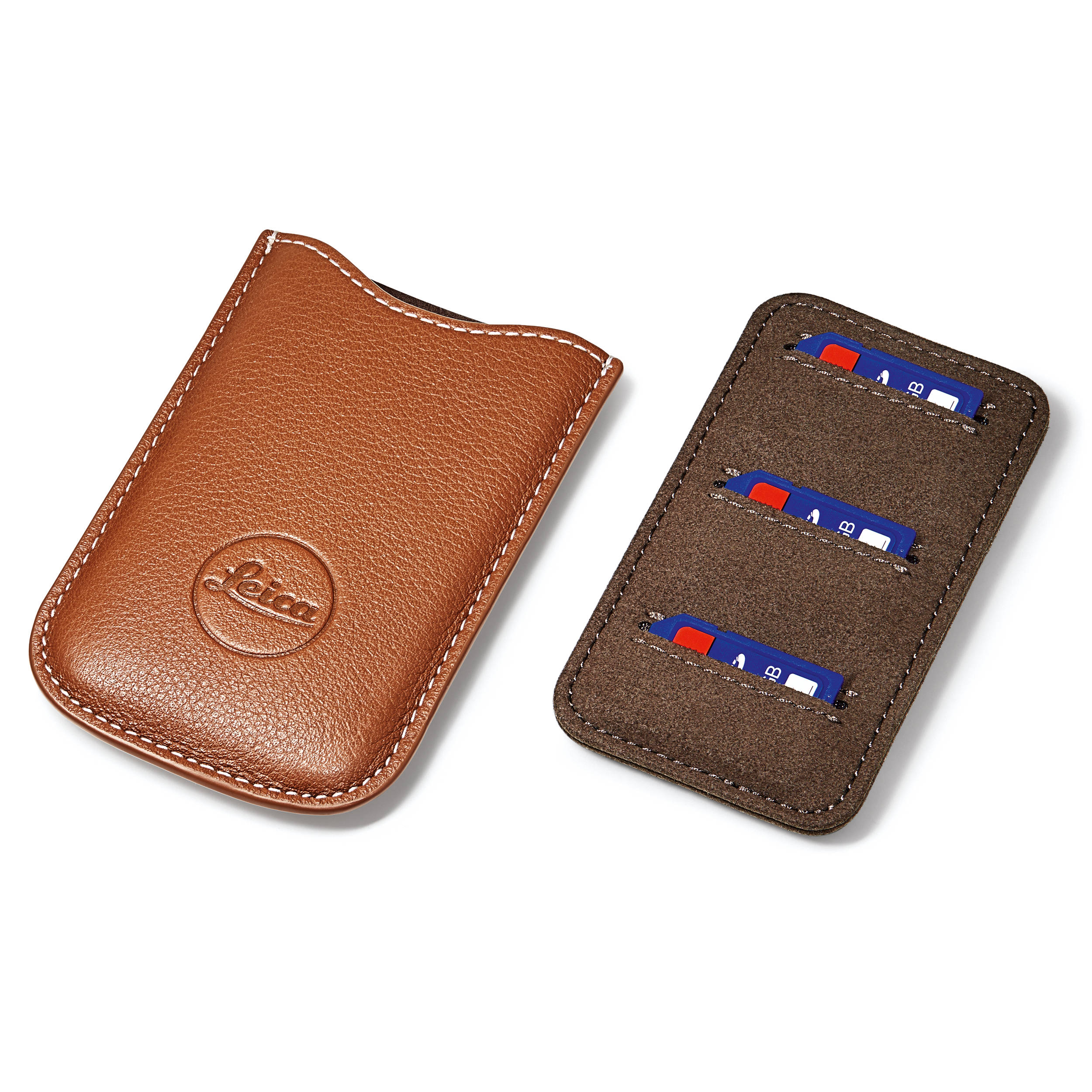 Leica SD and Credit Card Holder (Cognac) 18539 B&H Photo Video