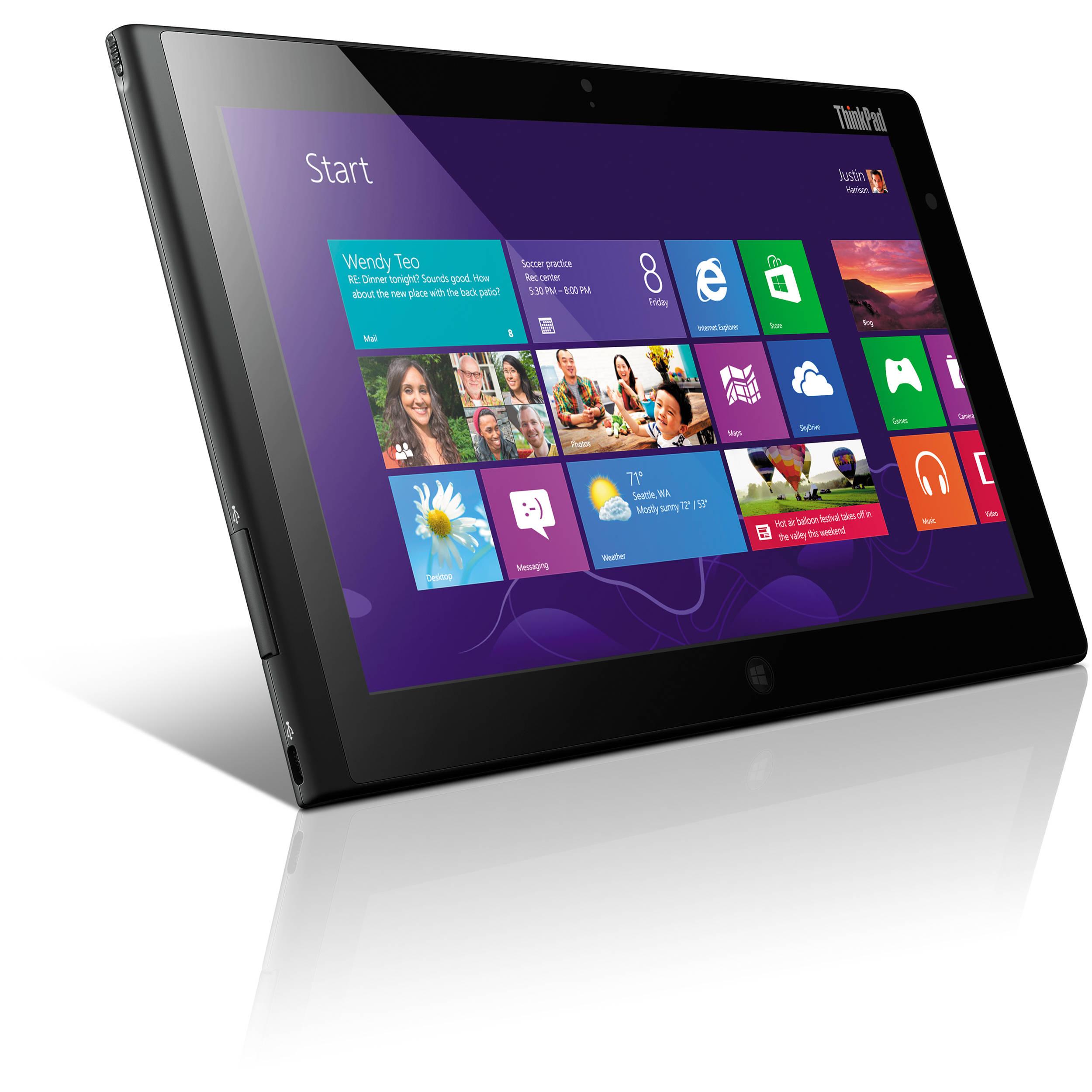 """Lenovo 64GB 10.1"""" ThinkPad Tablet 2 (Wi-Fi) 36795YU B&H"""