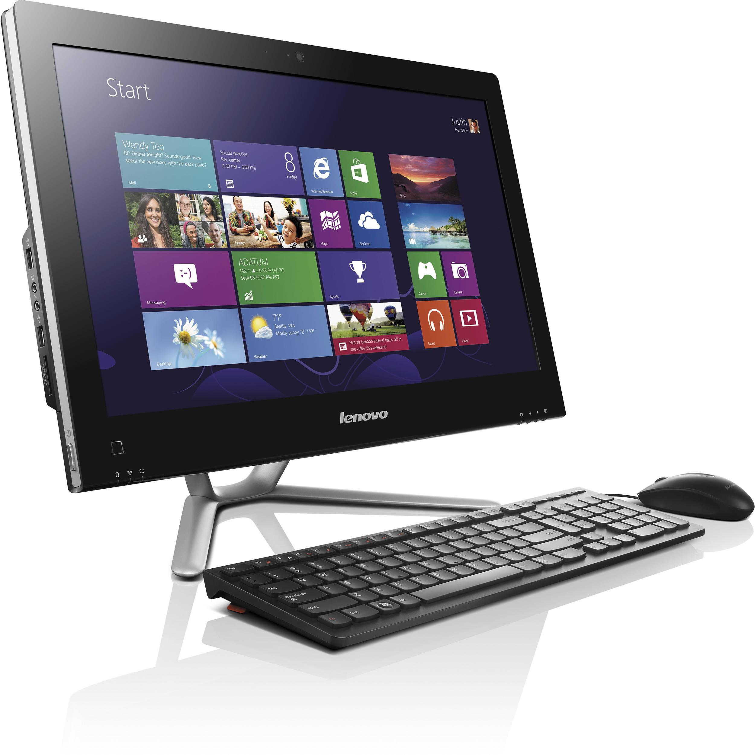 lenovo c355 20 all in one desktop computer 57318980 b h. Black Bedroom Furniture Sets. Home Design Ideas