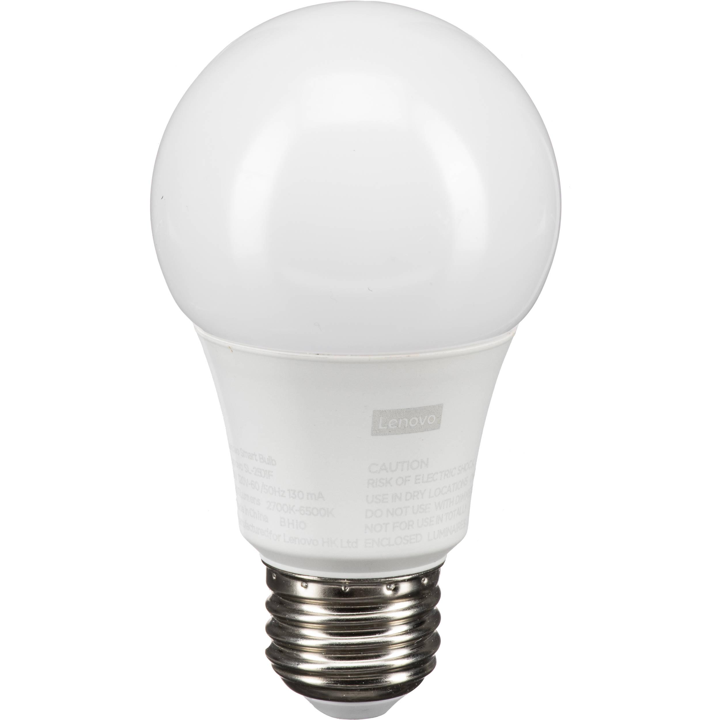 lenovo wi fi smart bulb white zg38c02546 b h photo video. Black Bedroom Furniture Sets. Home Design Ideas